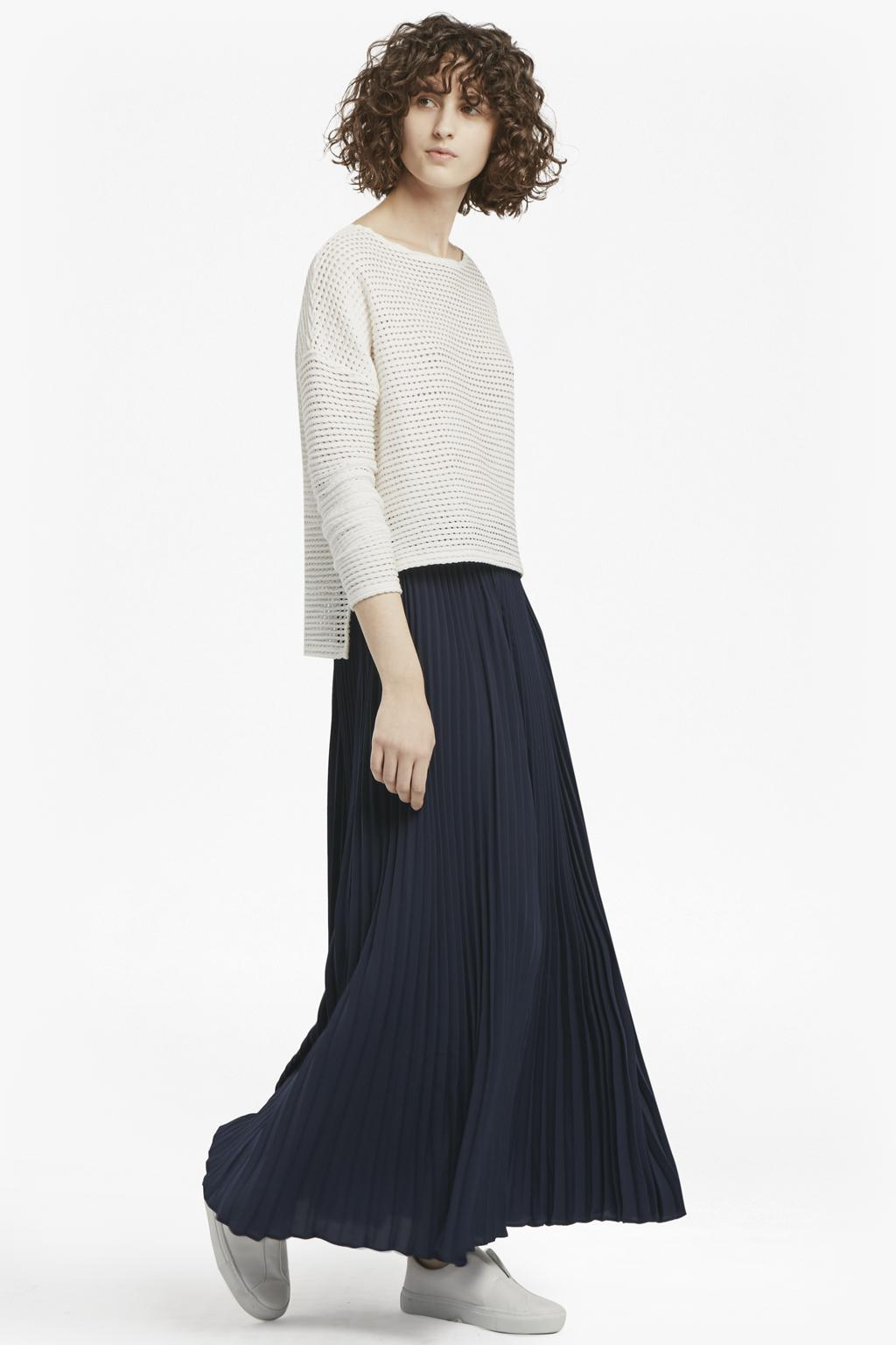 08c3778efbf French Connection Classic Crepe Pleated Maxi Skirt in Blue - Lyst