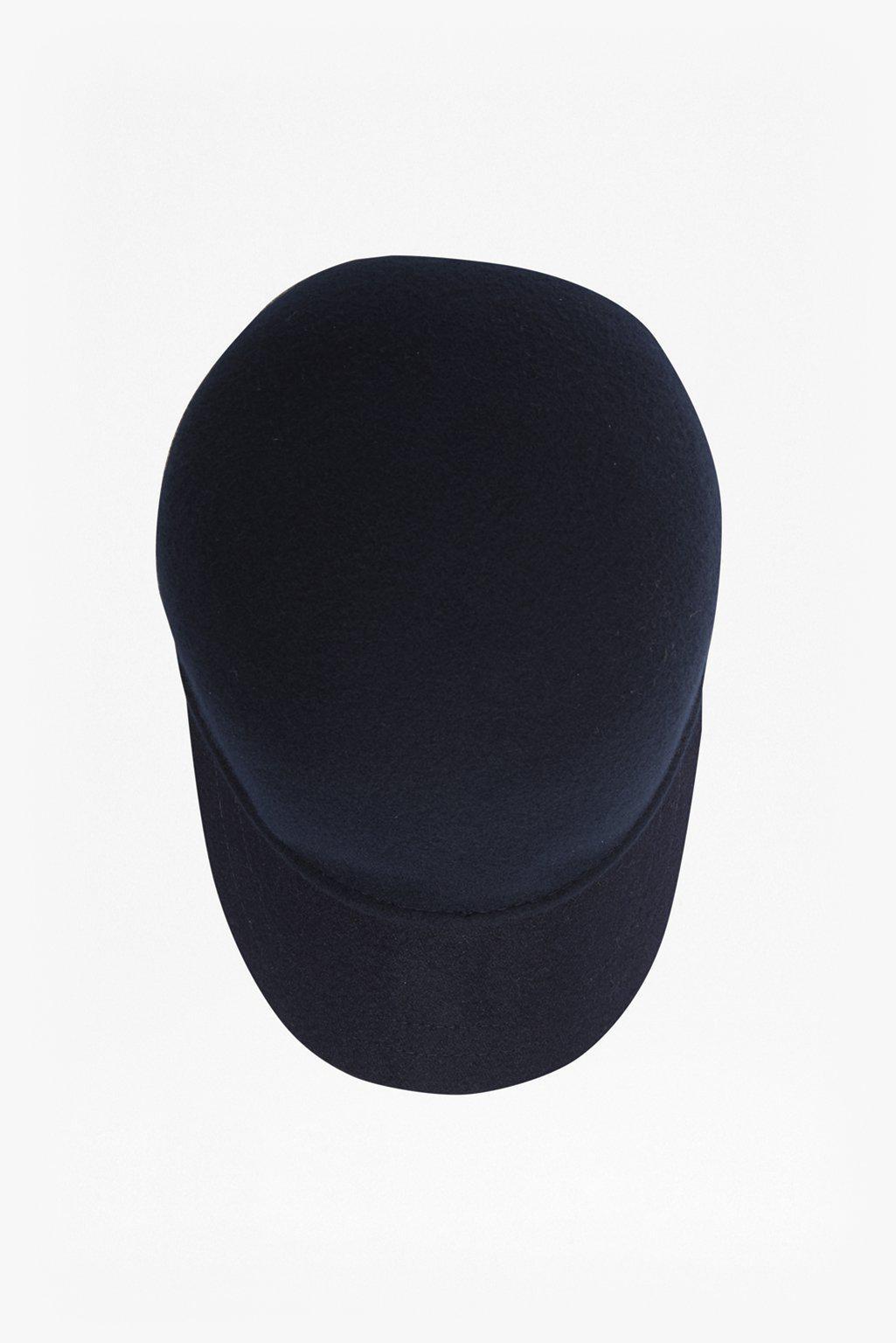 962380d2da6fc Lyst - French Connection Fia Felt Baseball Cap in Blue