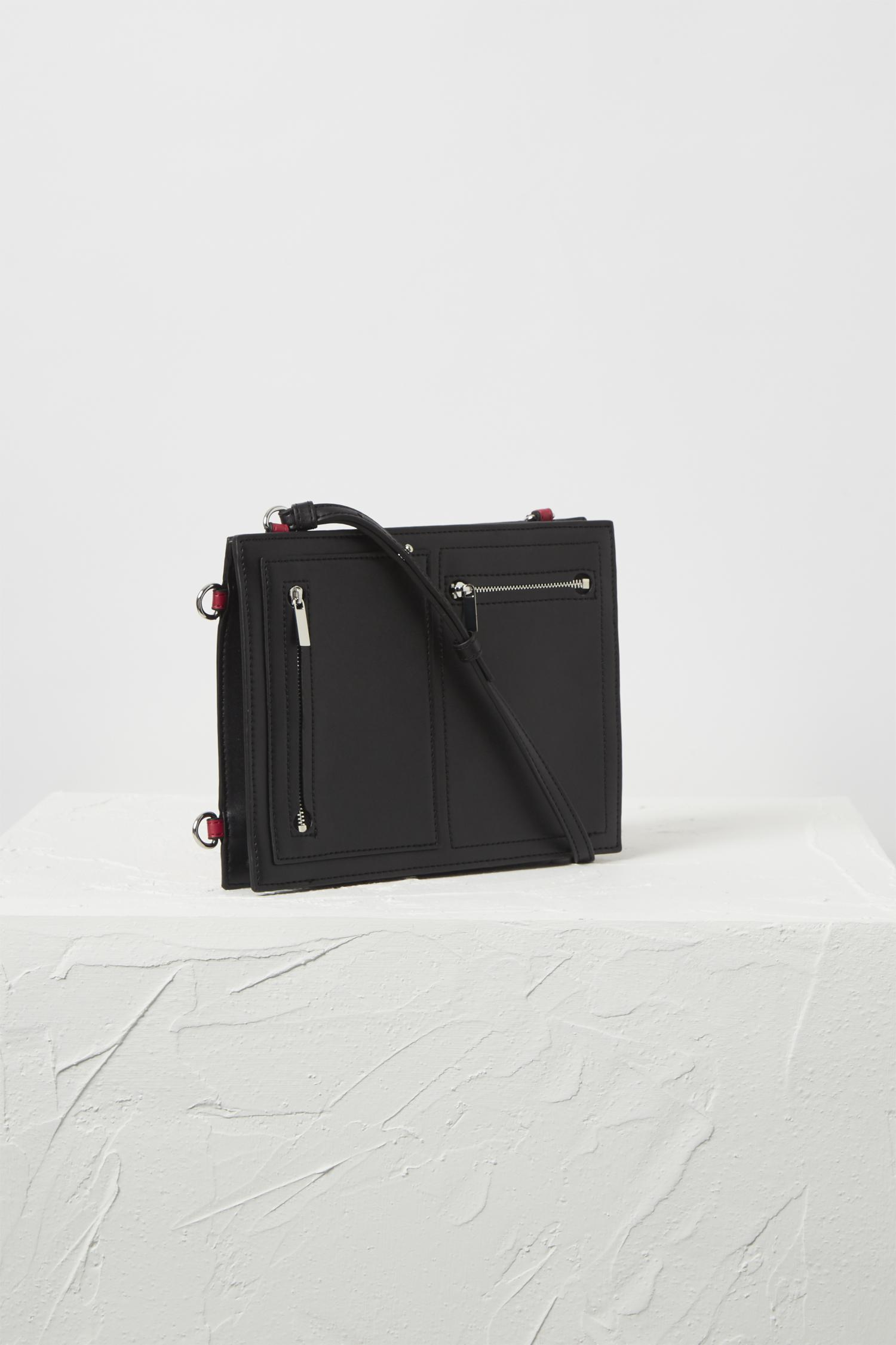 French Connection Dexter Upside Down Cross-body Bag in Black/Magenta (Black)