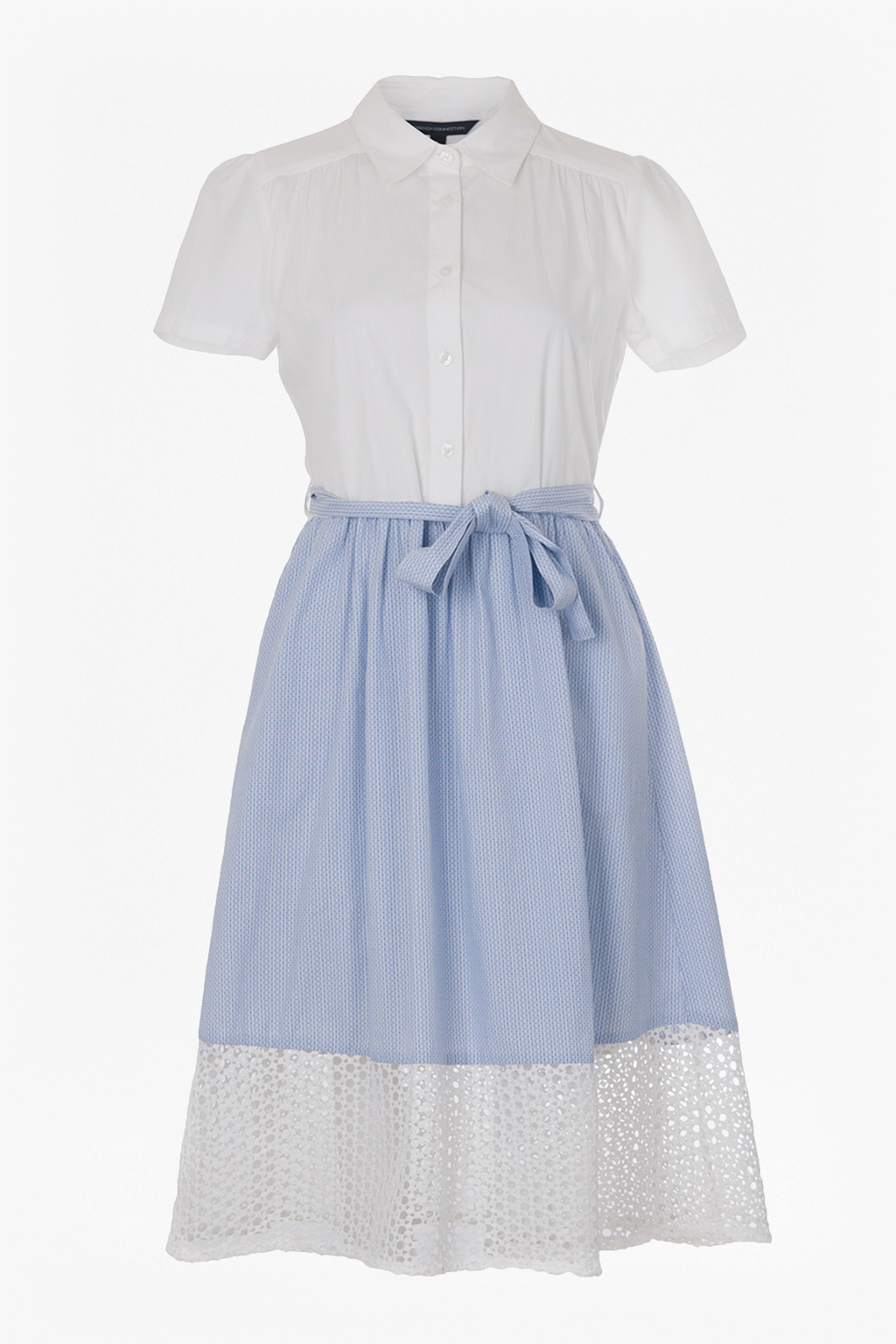 French Connection Kyra Cotton Shirt Dress In White Lyst