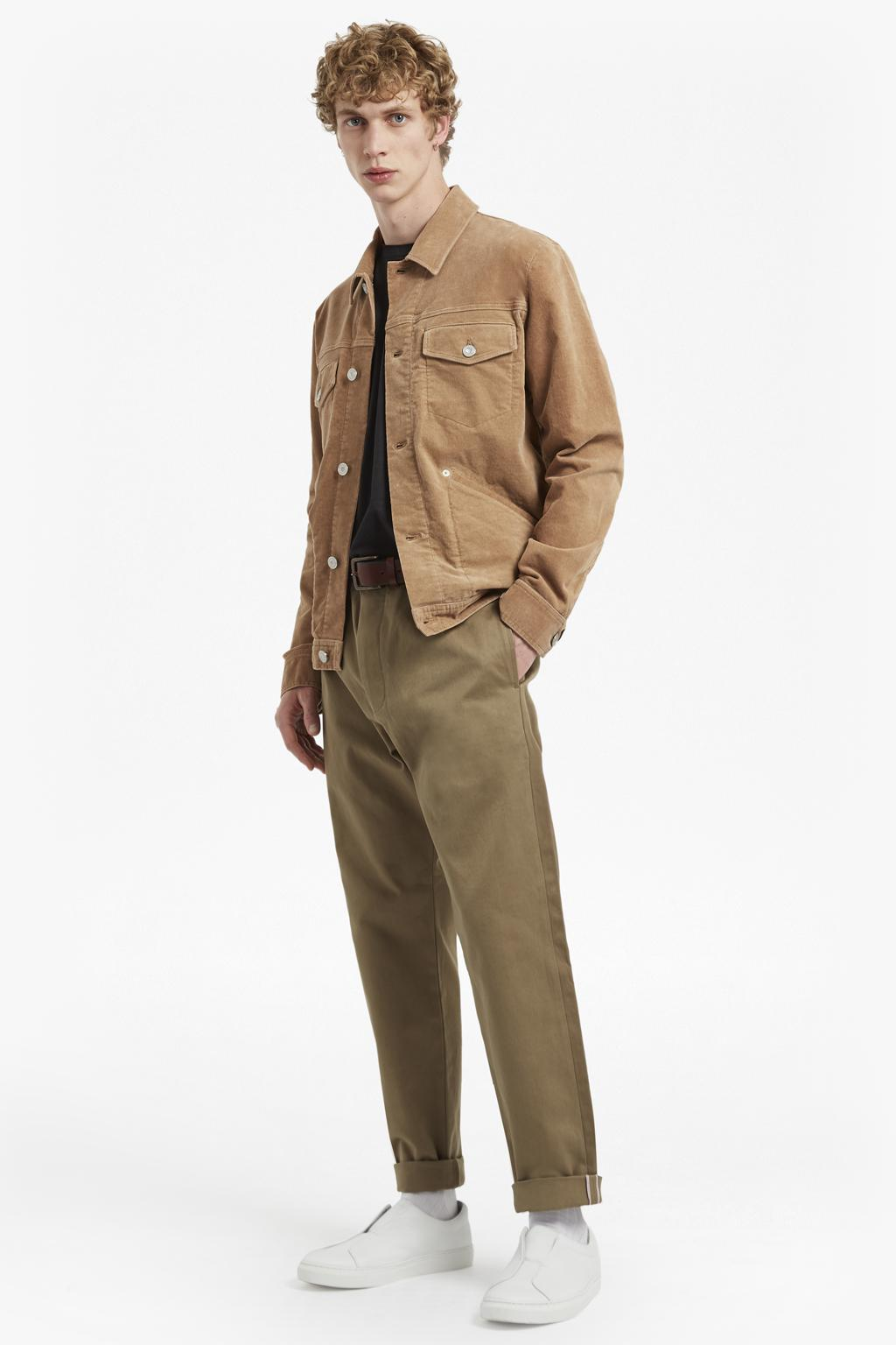 French Connection Leather Vintage Cord Jacket in Natural for Men