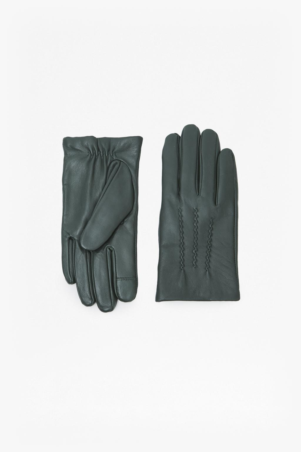 a26e0514755 Lyst - French Connection Verla Pintuck Gloves in Green