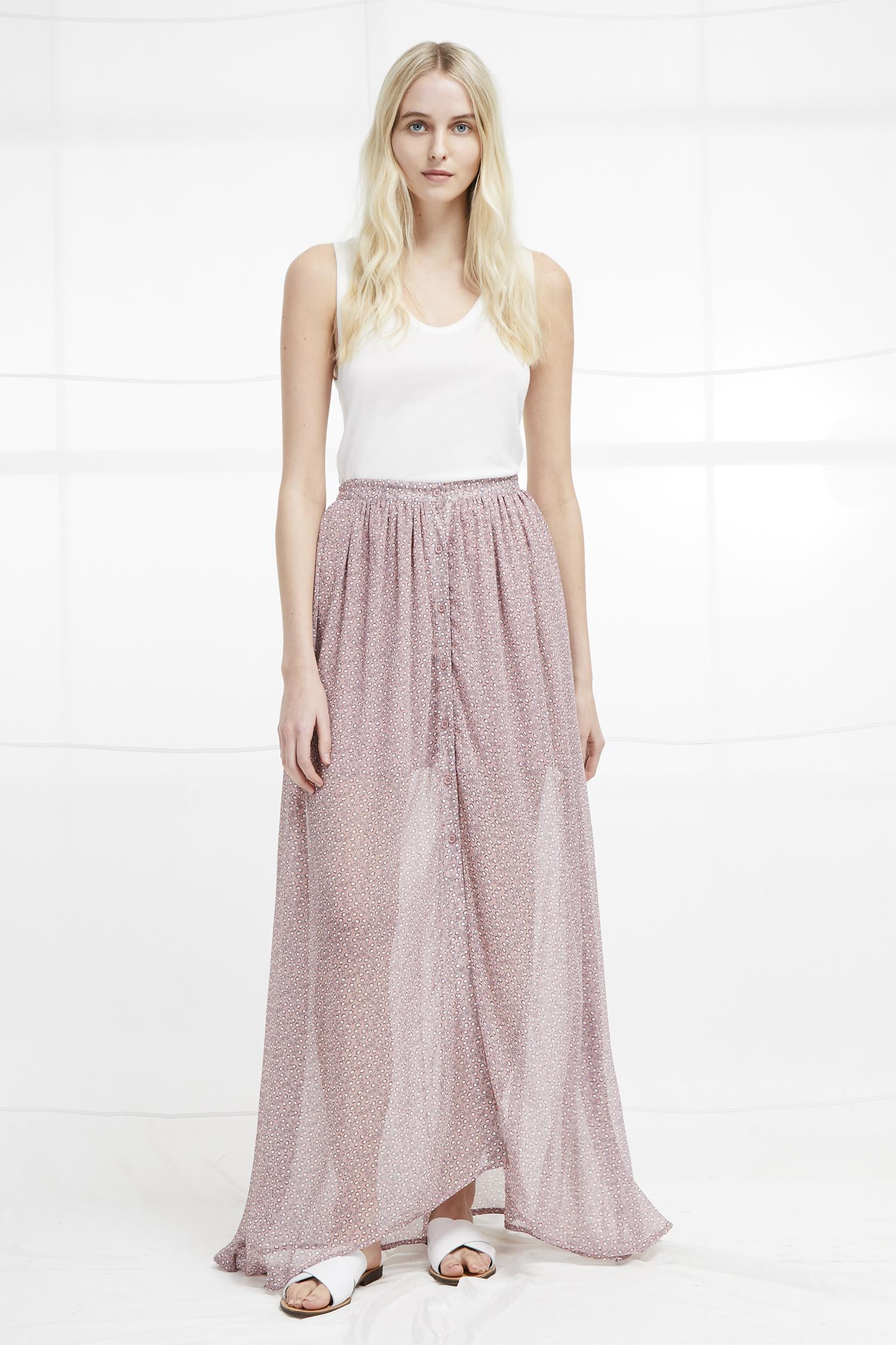 2981fa36689 French Connection Elao Sheer Maxi Skirt - Lyst