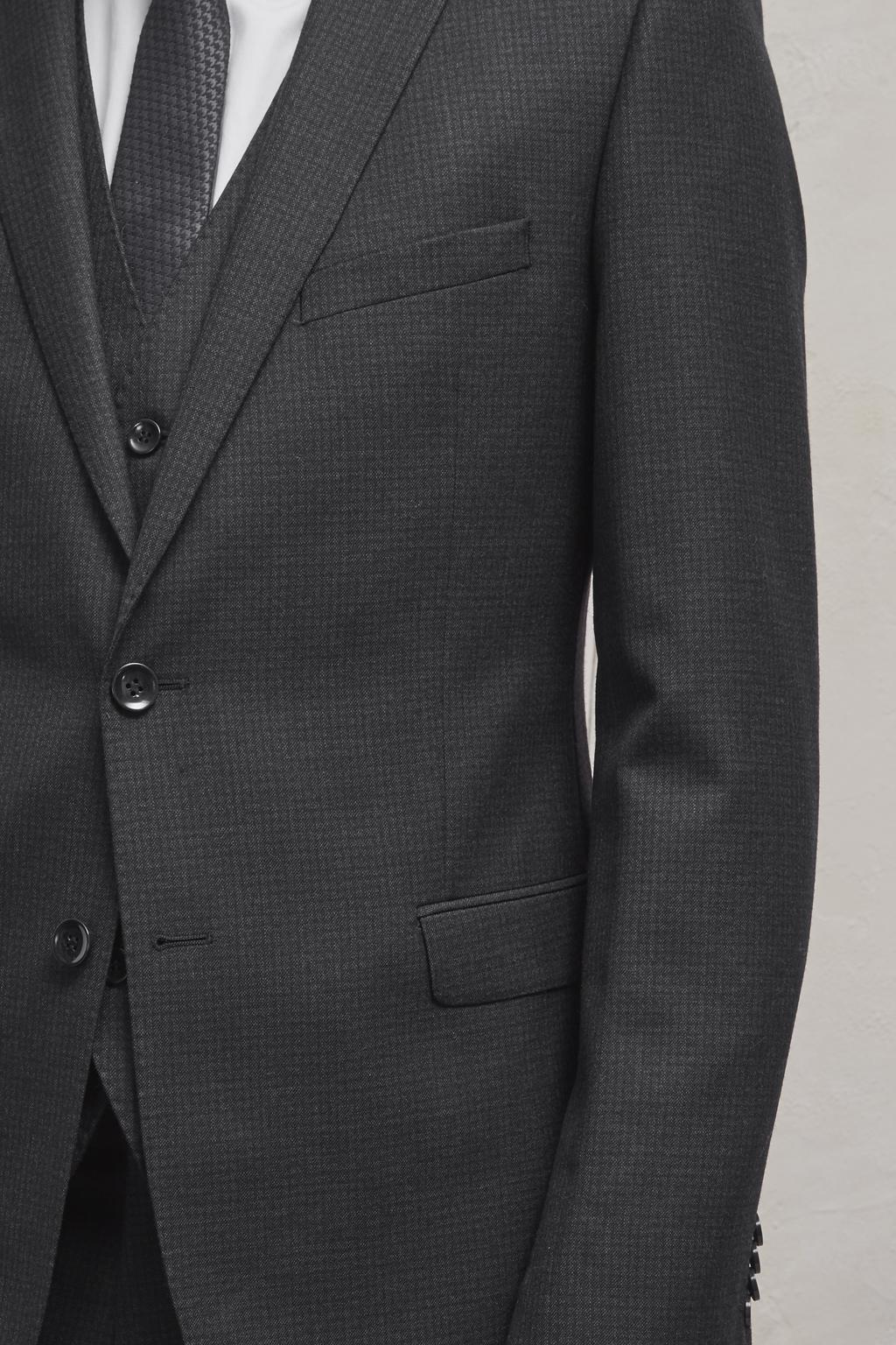 French Connection Wool Indigo Mini Check Suit Jacket in Blue for Men