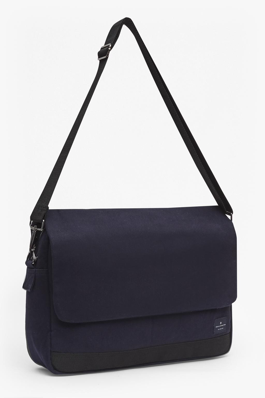 French Connection Canvas Neil Cross Body Messenger Bag in Marine Blue (Blue) for Men