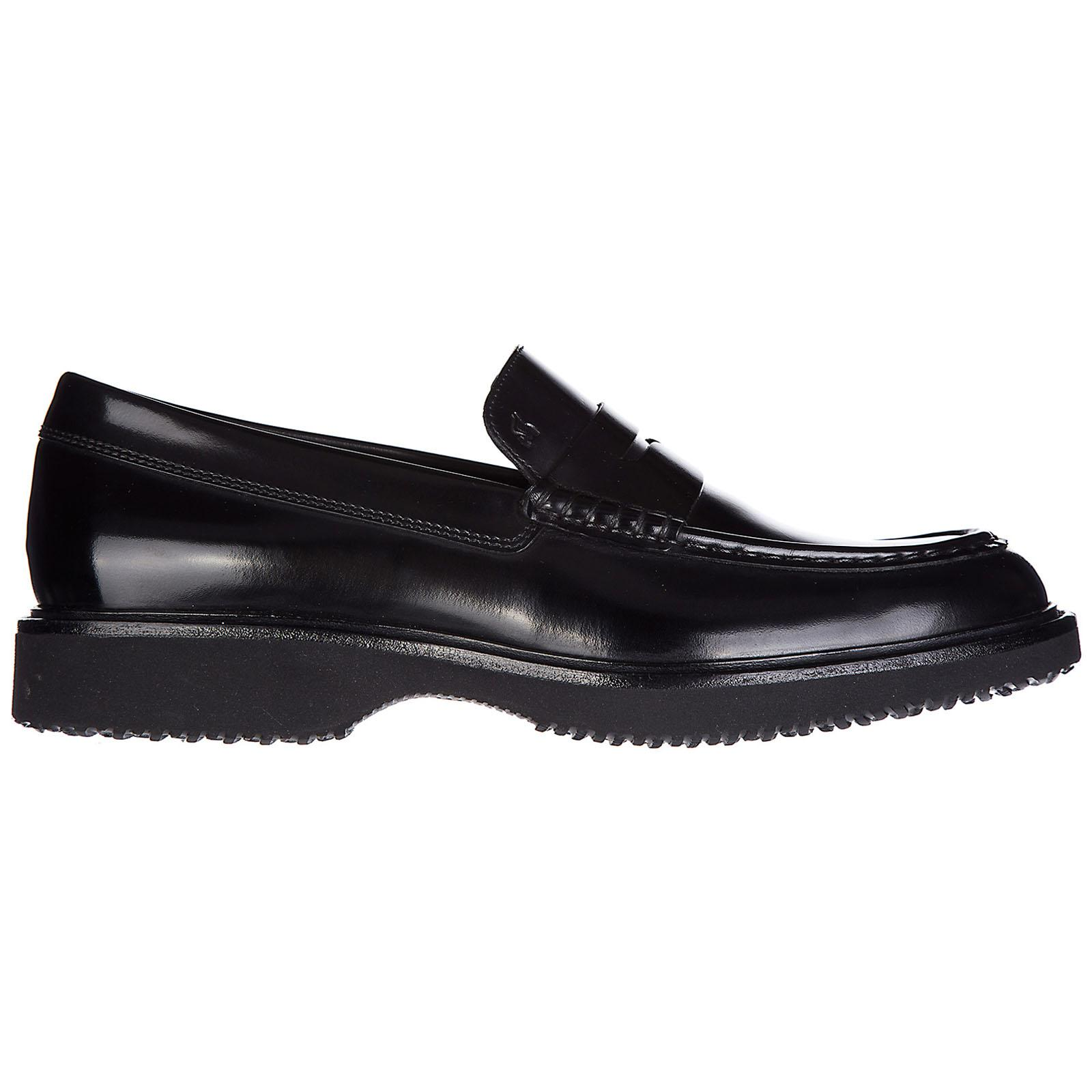 Hogan Leather Loafers Moccasins Route H217 in Nero (Black) for ...