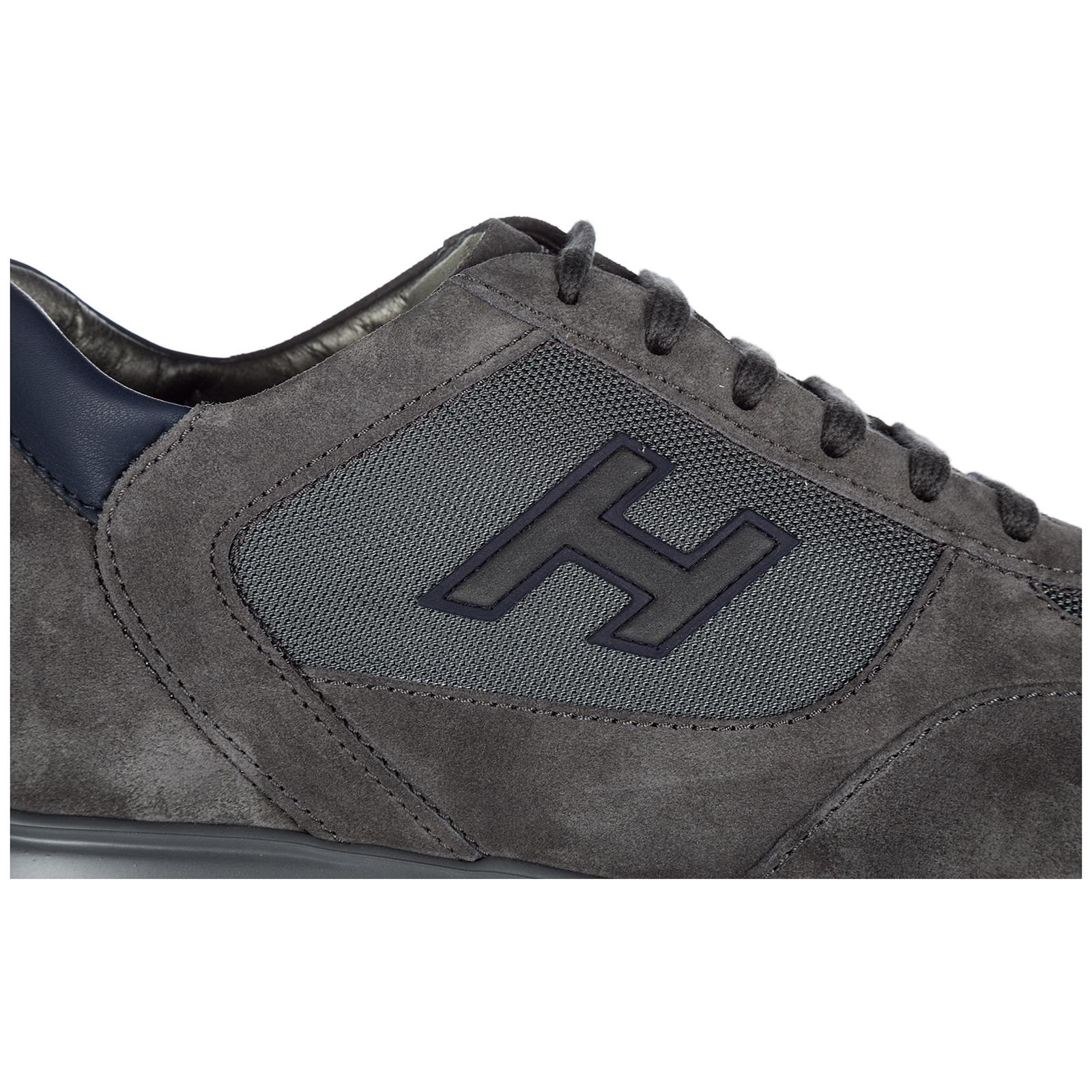 5daf771a4b89 Hogan - Gray Shoes Suede Trainers Sneakers New Interactive H Flock for Men  - Lyst. View fullscreen