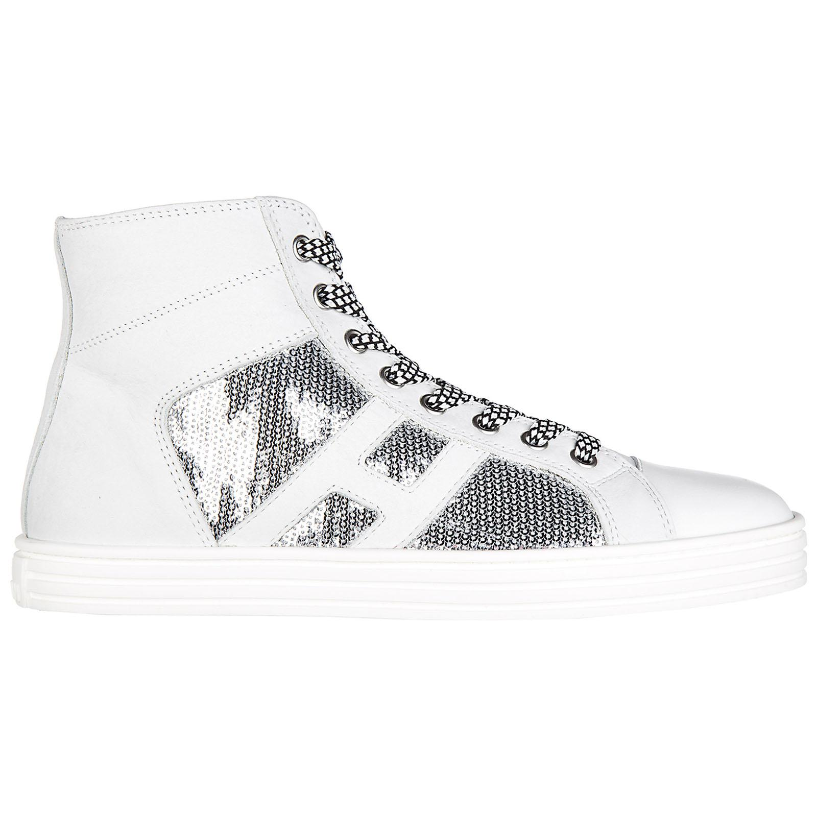 ad6e012754b Hogan Rebel Shoes High Top Suede Trainers Sneakers R141 Laterale ...