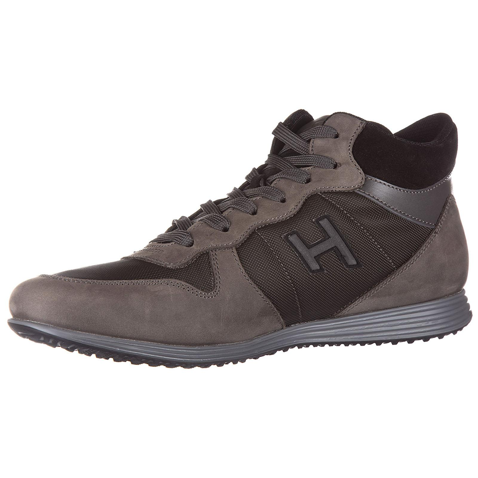 Hogan Shoes Leather Trainers Sneakers Mid Cut H205 Olympia H ...