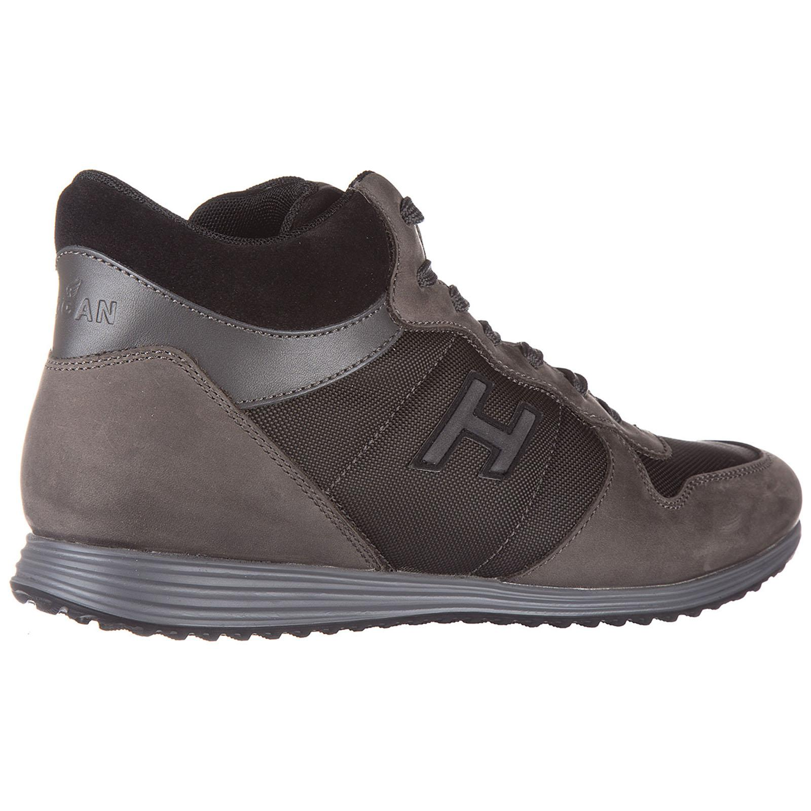 Hogan Shoes Leather Trainers Sneakers Mid Cut H205 Olympia H Flock ...