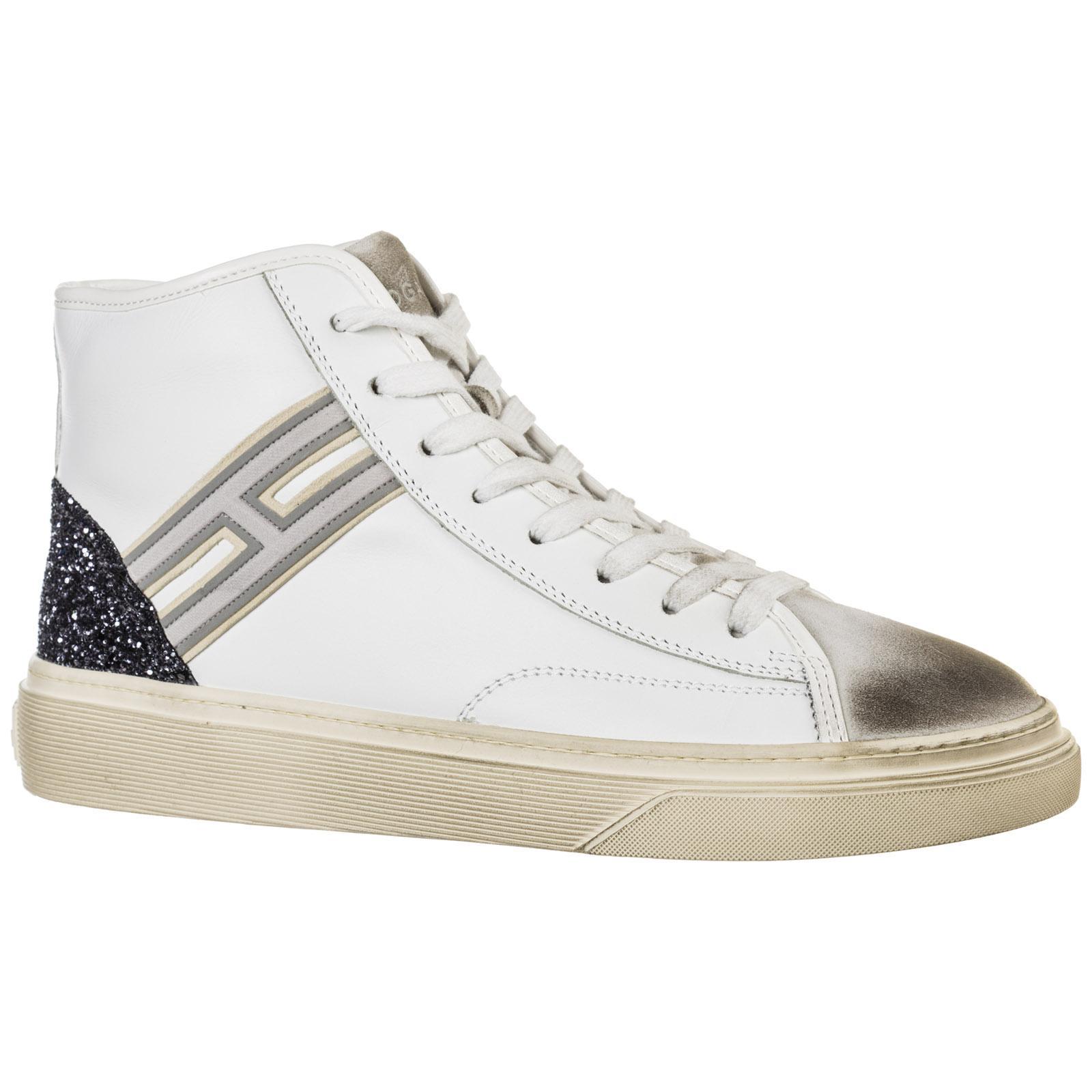 Scarpe sneakers alte donna in pelle h342Hogan in Pelle di colore ...