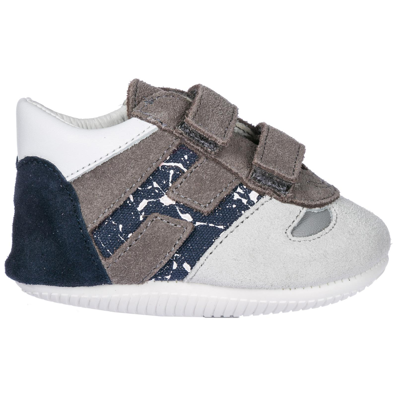 Men's Gray Boys Shoes Baby Child Sneakers Suede Leather Olympia