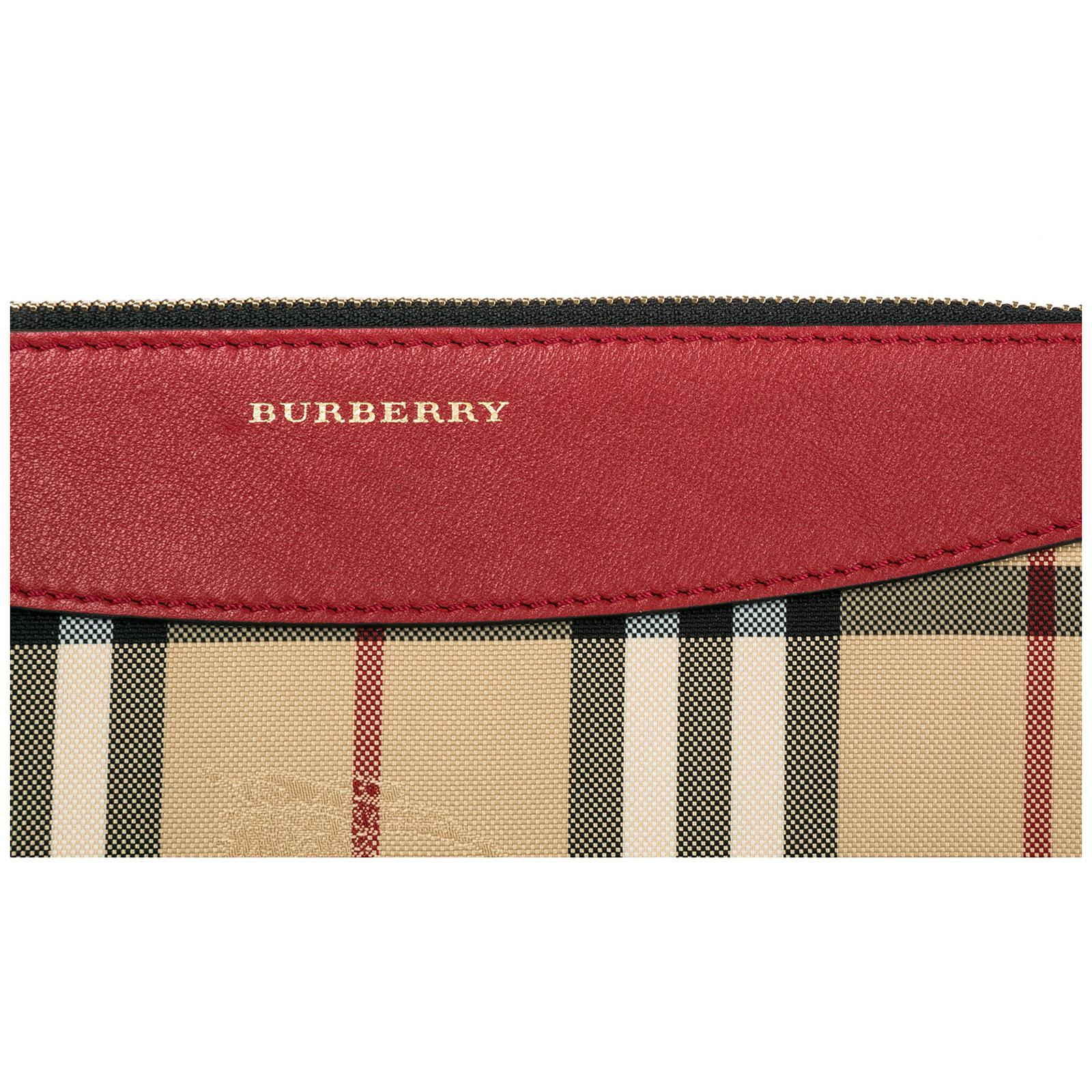Burberry Leather Cross-body Messenger Shoulder Bag in Red