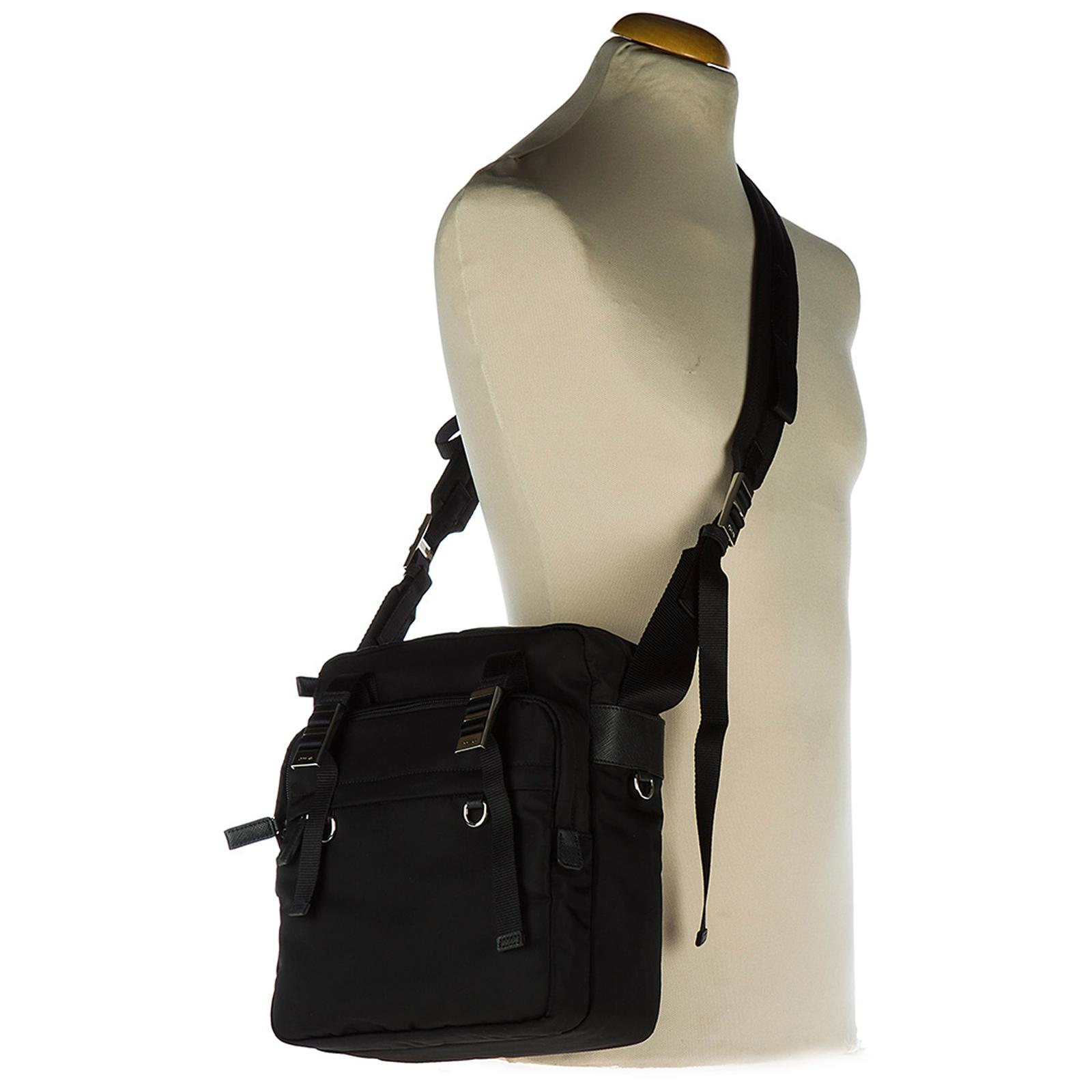 Prada Synthetic Nylon Cross-body Messenger Shoulder Bag in Nero (Black) for Men