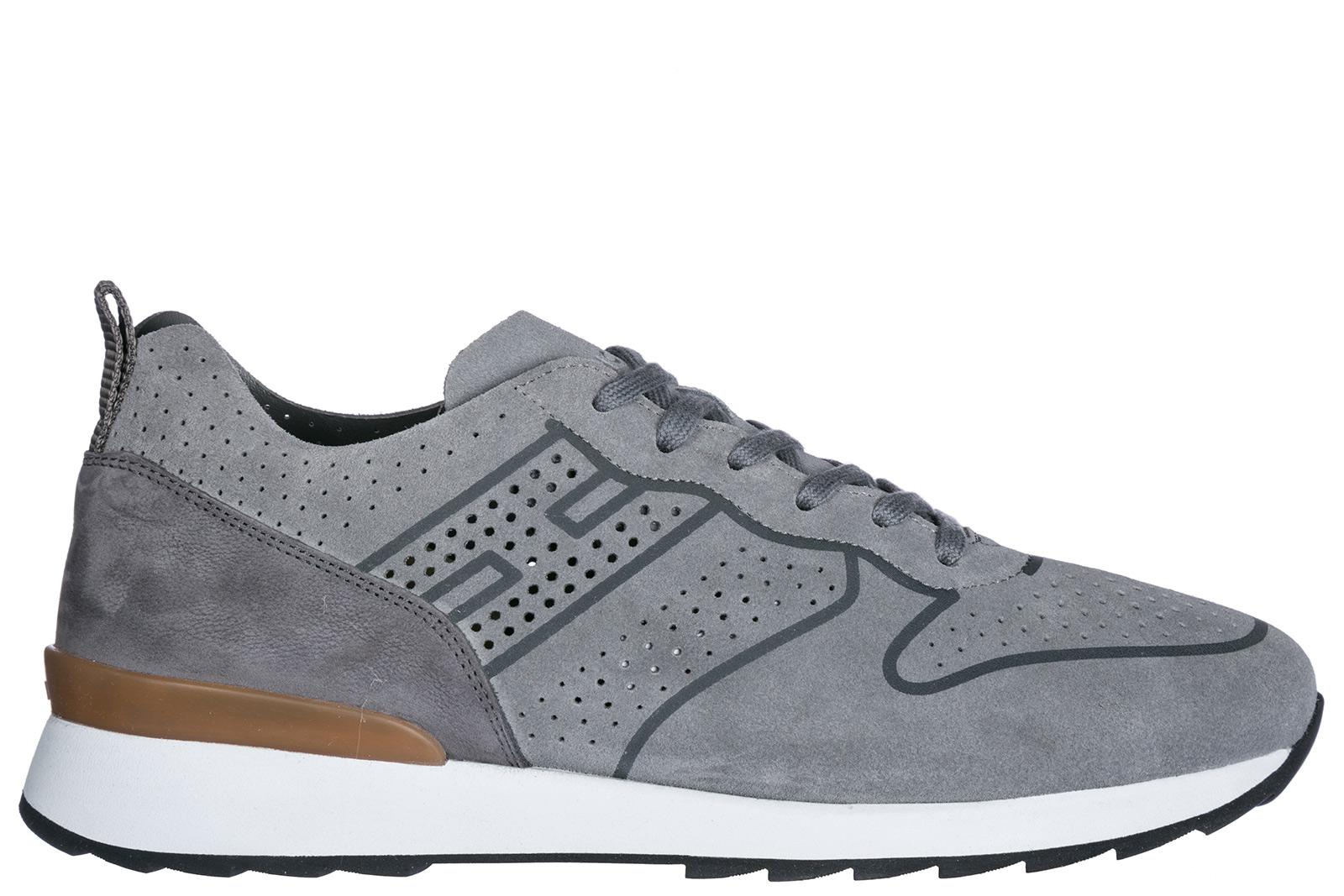 Hogan. Men's Gray Shoes Suede Trainers Sneakers R261
