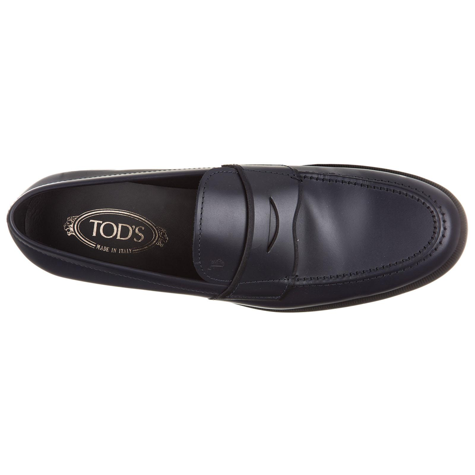 Tod's Leather Loafers Moccasins Fondo Light Xx in Blue for Men