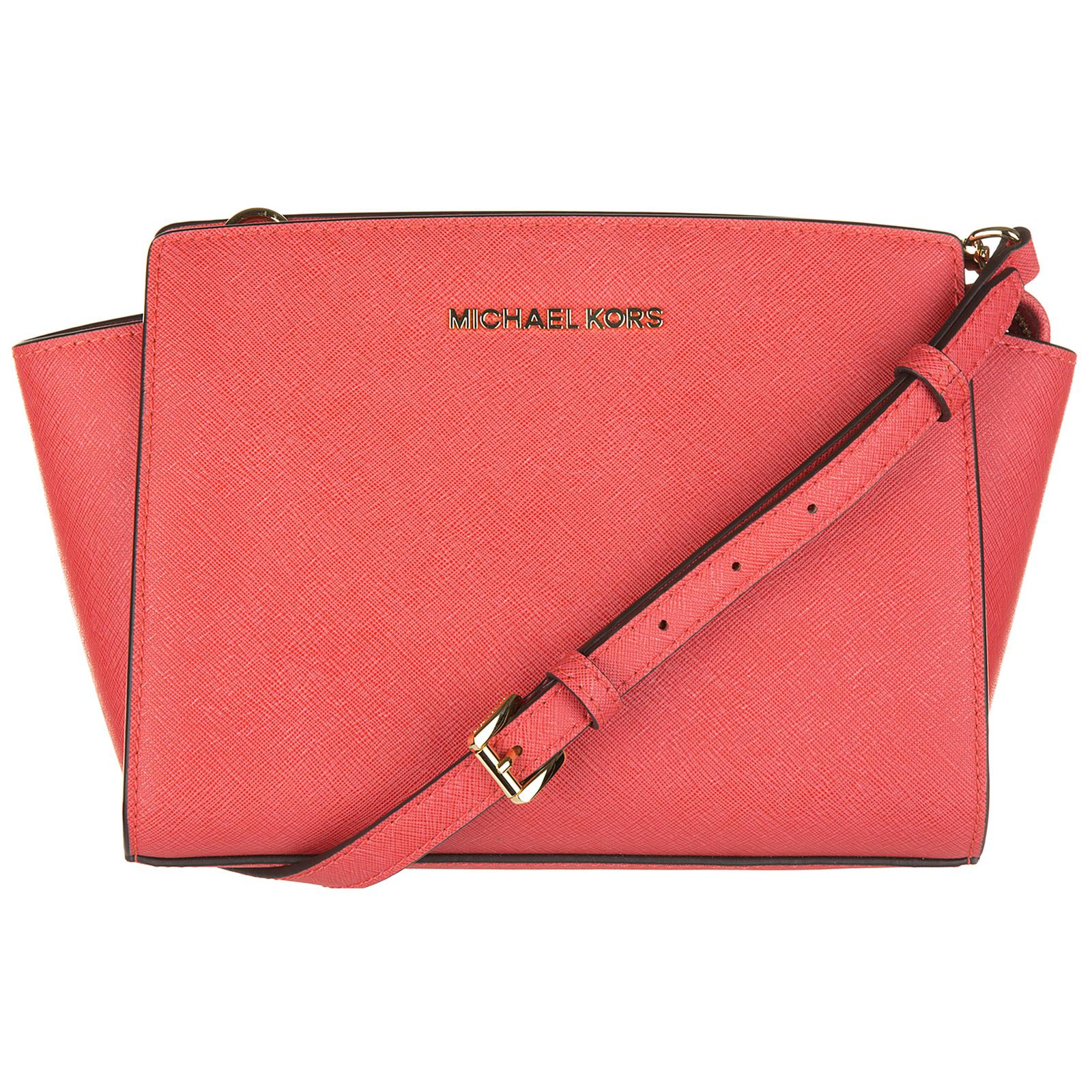 e4a98c572202 ... italy michael kors pink leather cross body messenger shoulder bag selma  lyst. view fullscreen 587f2