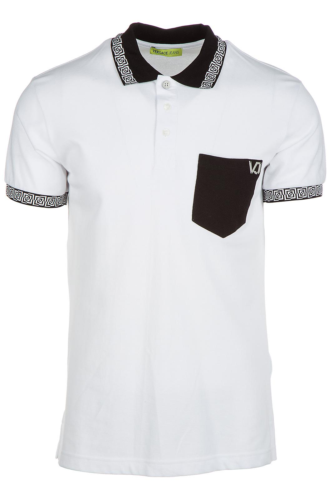868ab503 Versace Jeans Short Sleeve T-shirt Polo Collar in White for Men - Lyst
