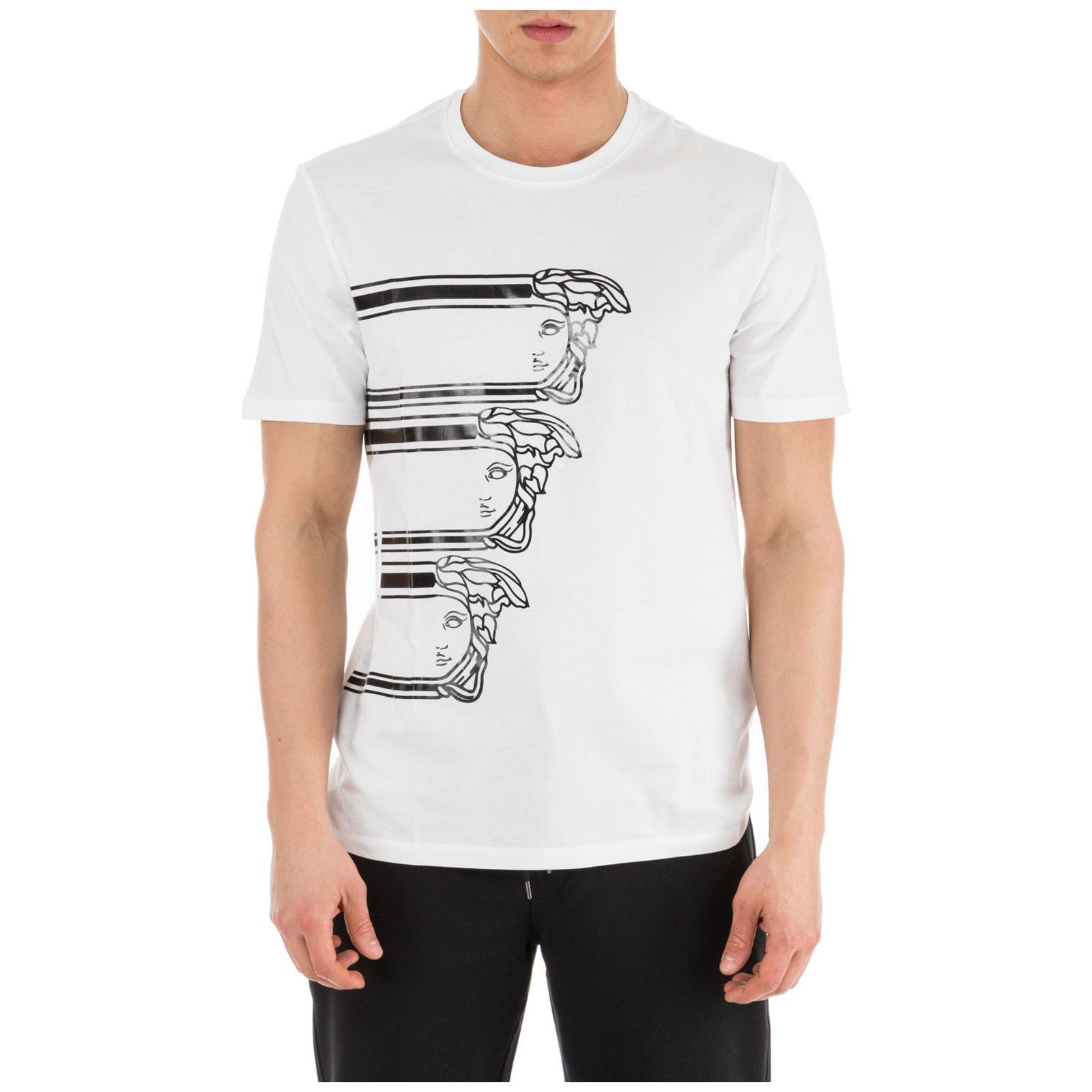 4826d283 Lyst - Versace Short Sleeve T-shirt Crew Neckline Jumper Regular in ...