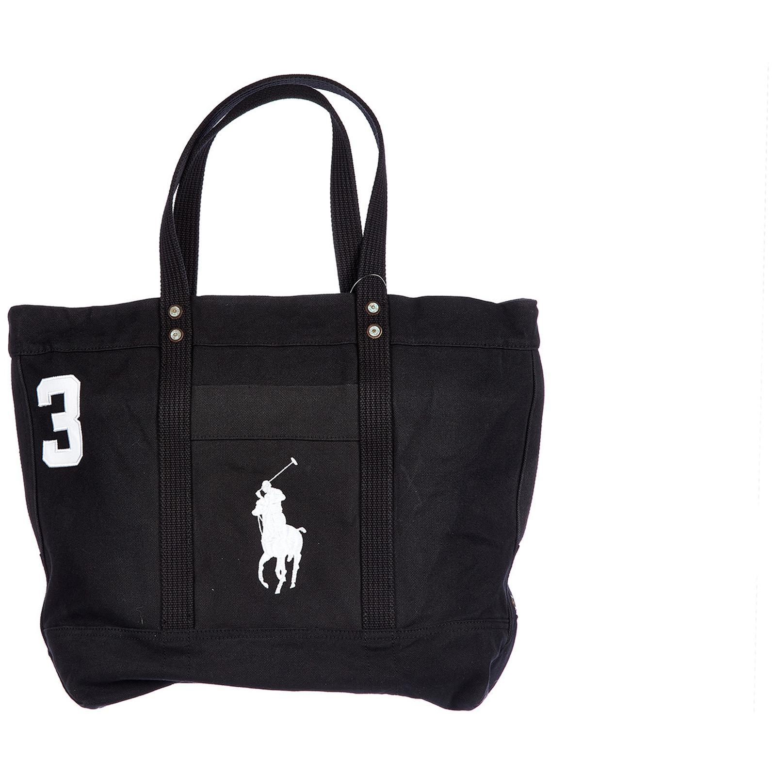 d23cc79be754 Polo Ralph Lauren Bag Handbag Shopping Tote Canvas in Black for Men ...