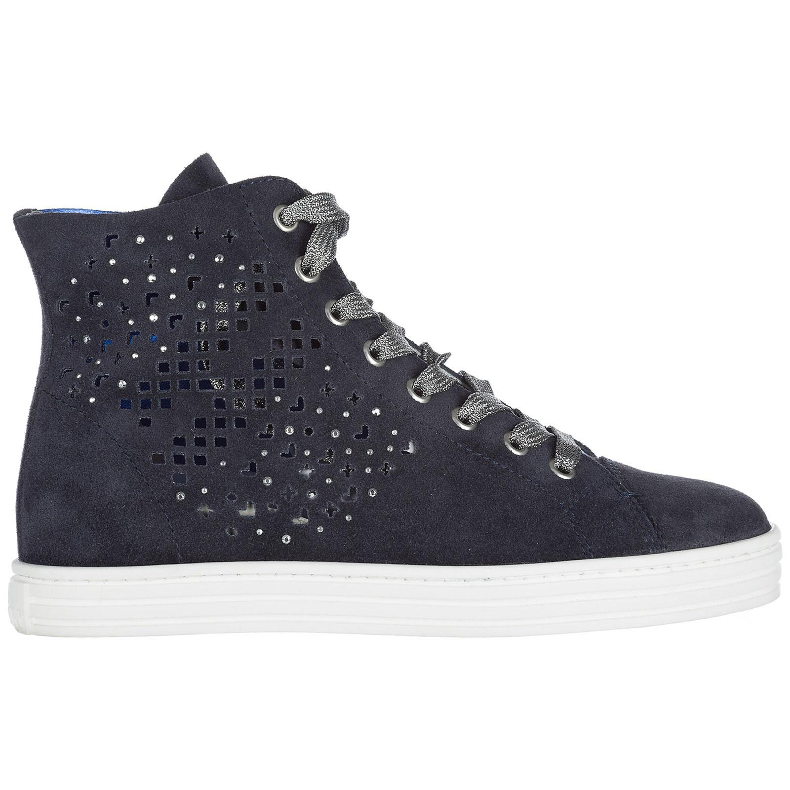 f2f2bb045e8 Lyst - Hogan Rebel Shoes High Top Suede Trainers Sneakers R182 in ...