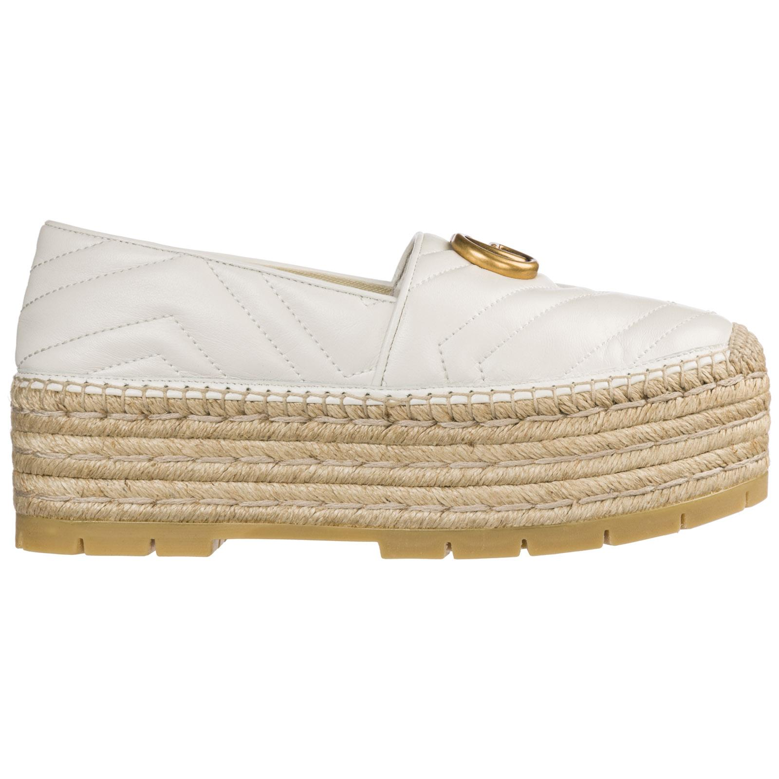 19bd800d3b1 Lyst - Gucci Espadrilles Slip On Shoes in White