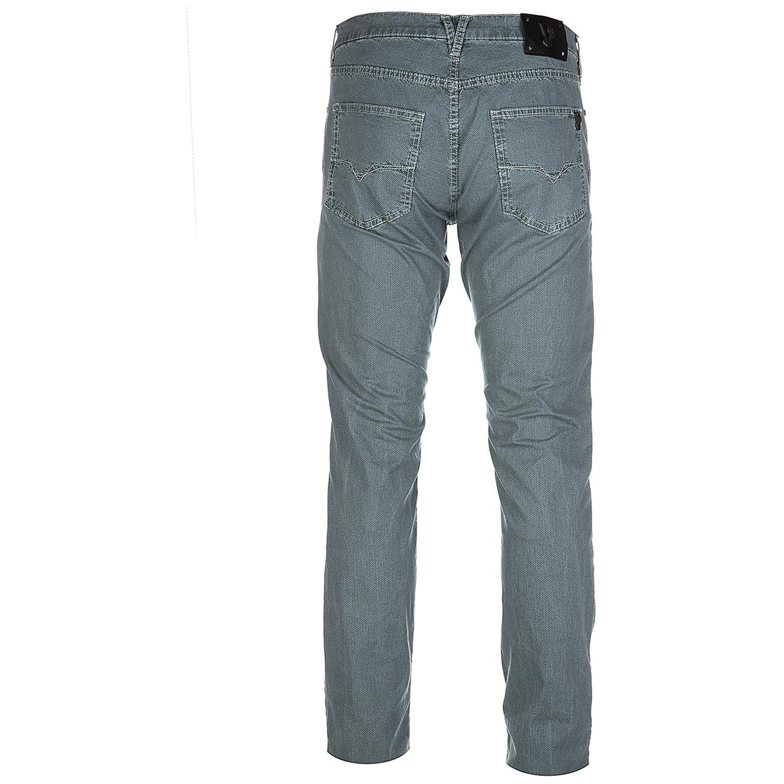Versace Jeans Couture Cotton Trousers Pants Slim Pocket Tiger in Blue for Men