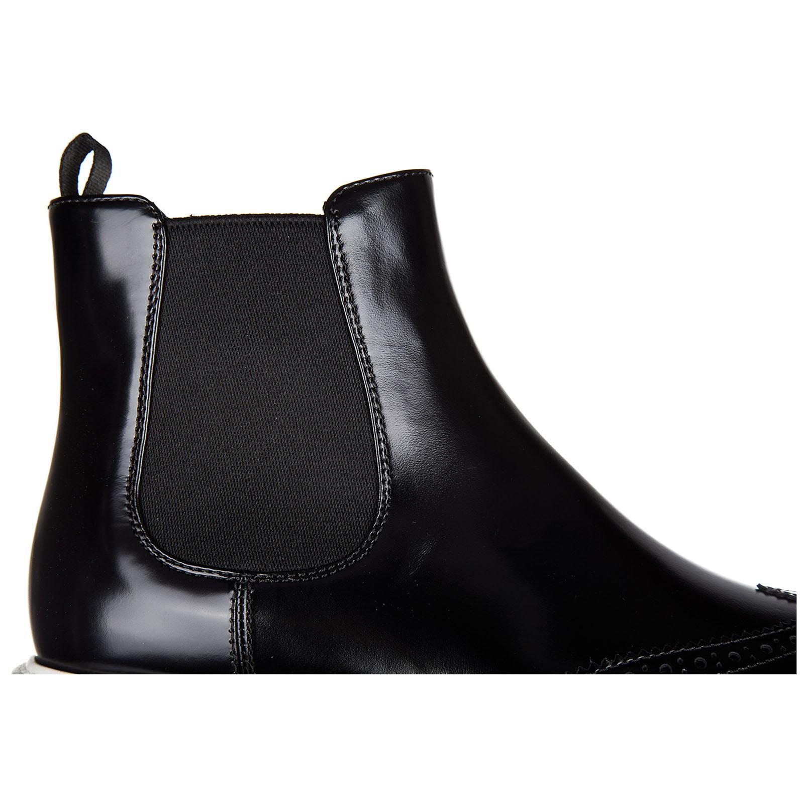 81aa77a6 Black Women's Leather Ankle Boots Booties Spazzolato