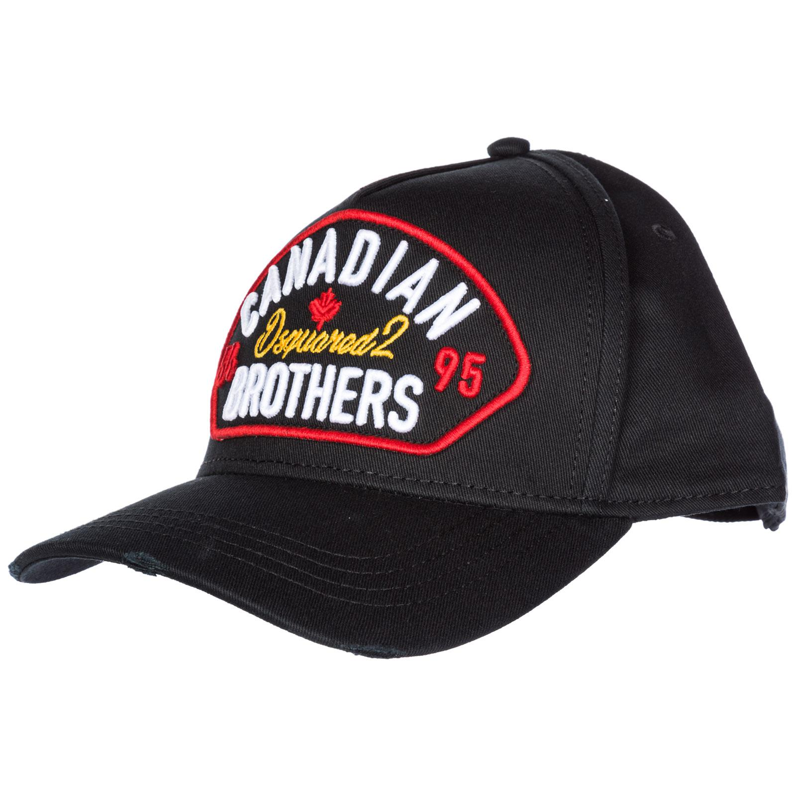 Dsquared² Adjustable Cotton Hat Baseball Cap Canadian Brothers in ... 4482933e190e