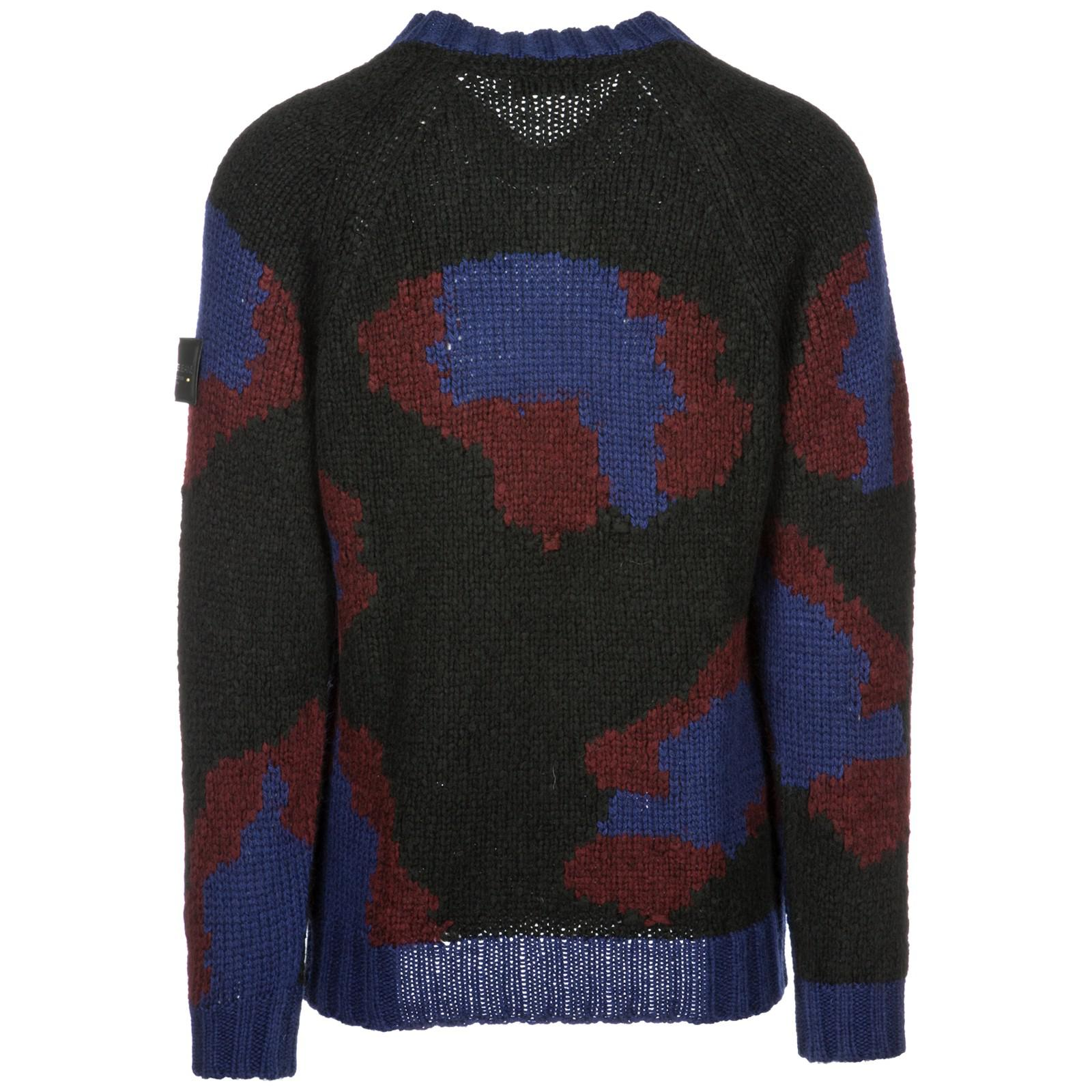Versace Jeans Couture Synthetic Tricolor V-neck Pullover in Nero (Black) for Men