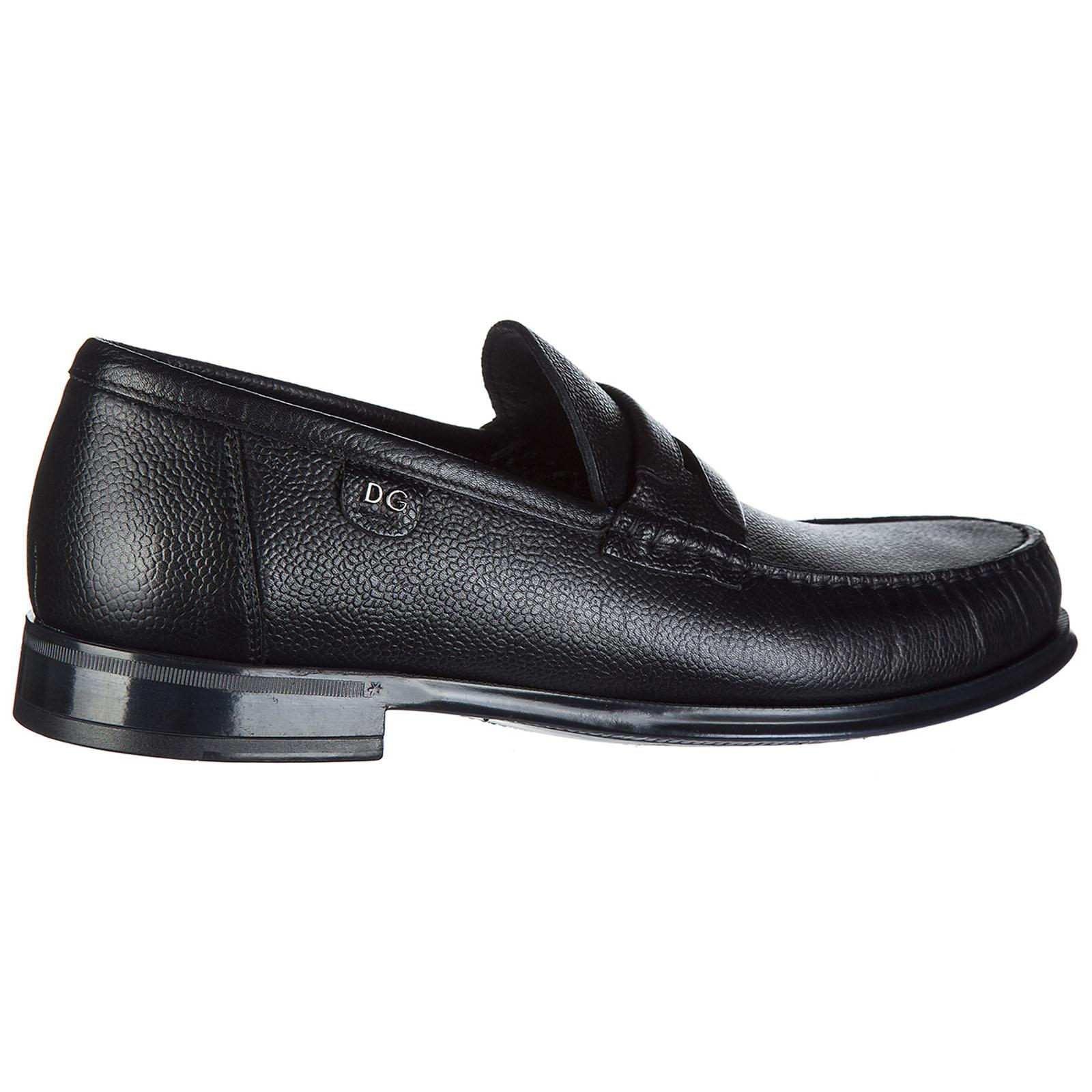 Dolce & Gabbana Men's Leather Loafers Moccasins Bramante in Nero (Black) for Men