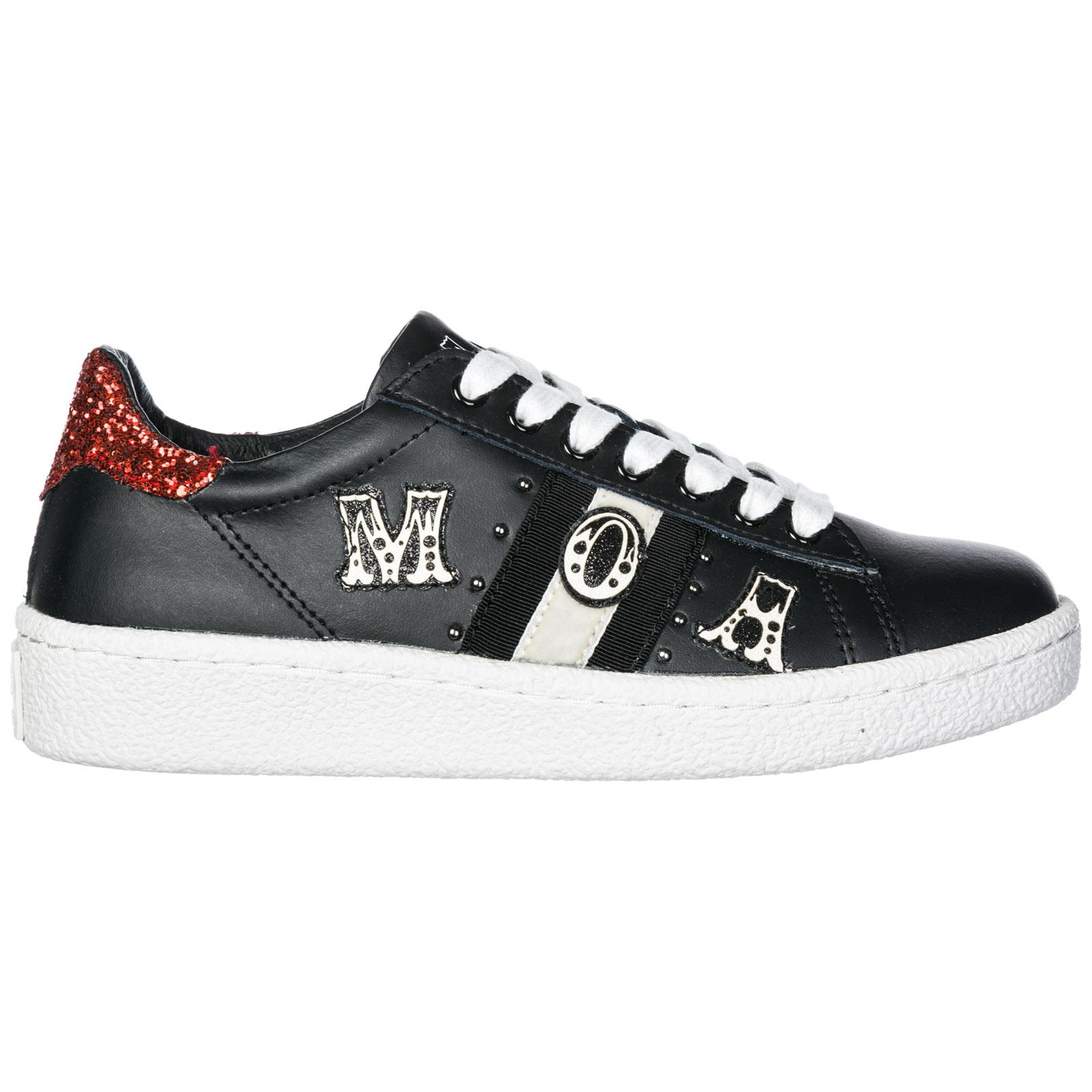 a5a8cdd896a7d Moa Scarpe Sneakers Donna In Pelle Grand Master in Black - Lyst