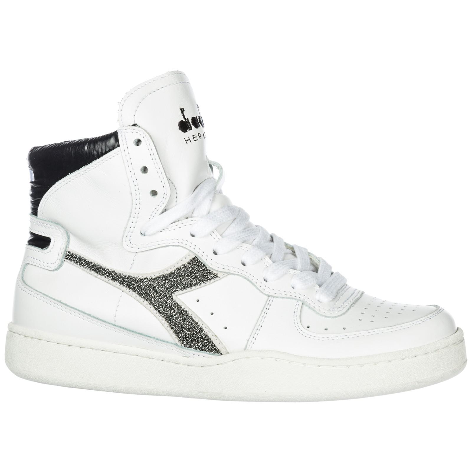 e1018df09eca Diadora Shoes High Top Leather Trainers Sneakers Mi Basket Lux in ...