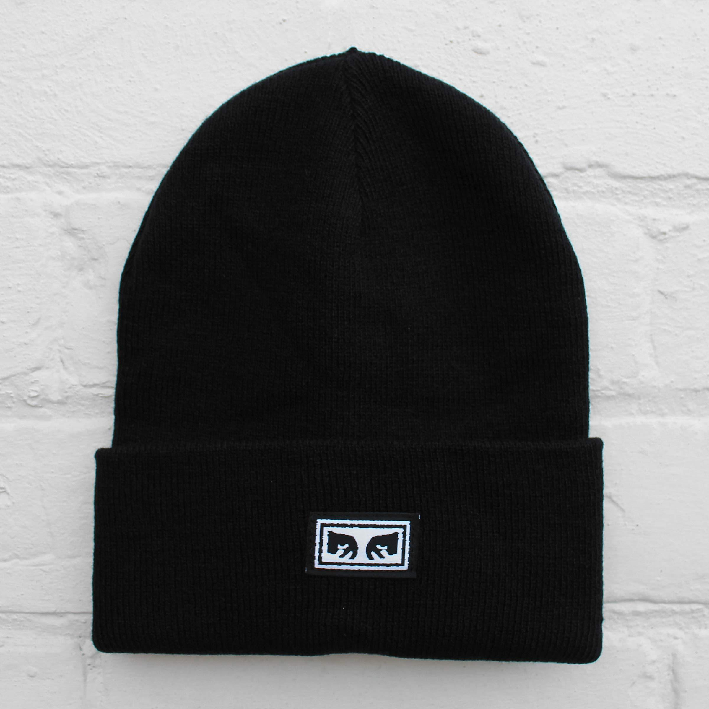 Obey Icon Eyes Beanie in Black for Men - Lyst 194d054982fc