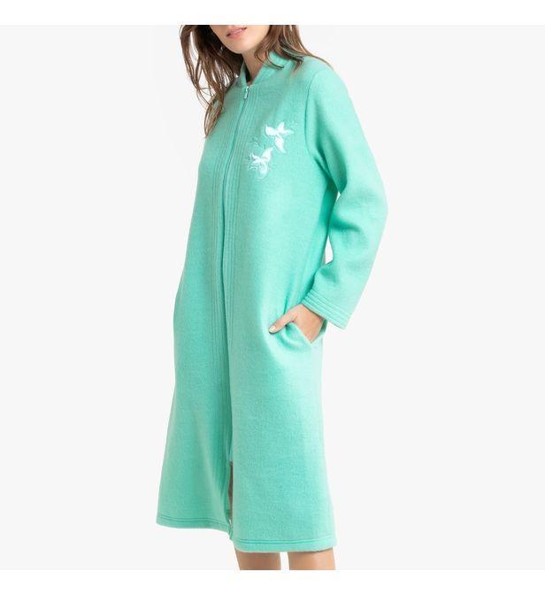 Robe de chambre, label Courtelle Synthétique La Redoute en coloris Rose