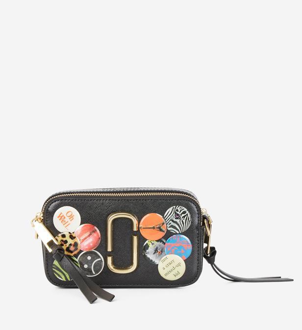 Lyst - Sac pochette Snapshot Badges XS Marc Jacobs en coloris Noir 4f3a691fa655