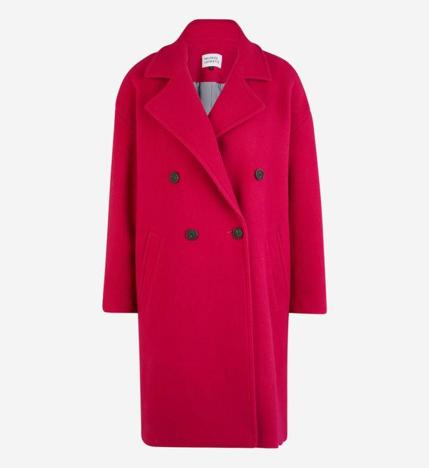 Manteau Clinton mi-long Galeries Lafayette en coloris Rouge 3FQZT