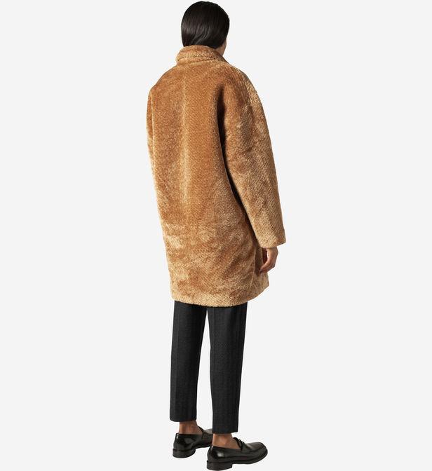 Manteau mi-long oversize effet fourrure Pablo FnwDI