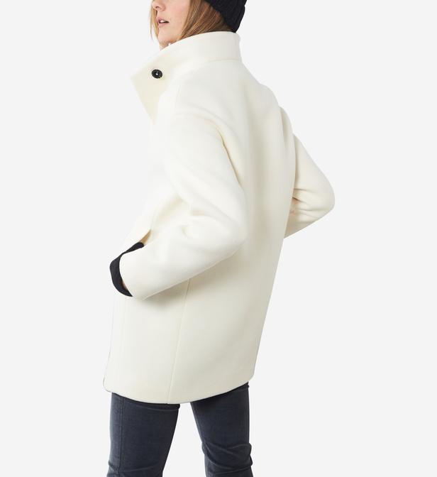 Lyst - Manteau droit à teneur en laine Shika CAROLL 5f2eca9d2b7