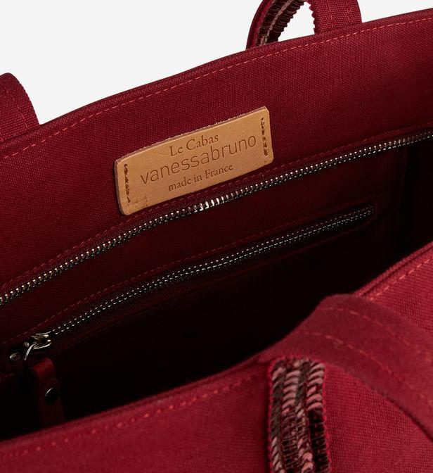 Sac cabas moyen plus coton bordeaux Vanessa Bruno en coloris Rouge