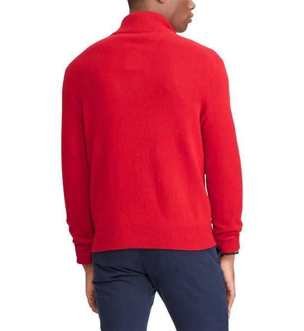 3a59fa72d9640 Lyst - Pull à col zippé en laine et cachemire homme Polo Ralph ...