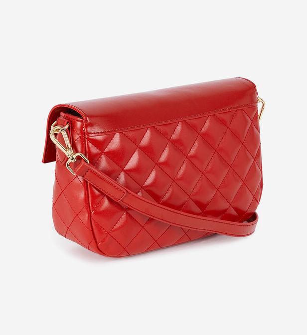 Sac besace New Shiny matelassé Love Moschino en coloris Rouge