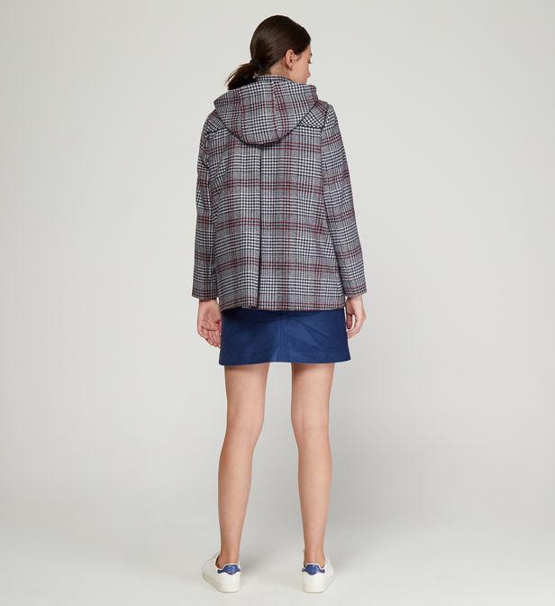 Manteau duffle coat Achille droit capuche JODHPUR en coloris Bleu GRQAu