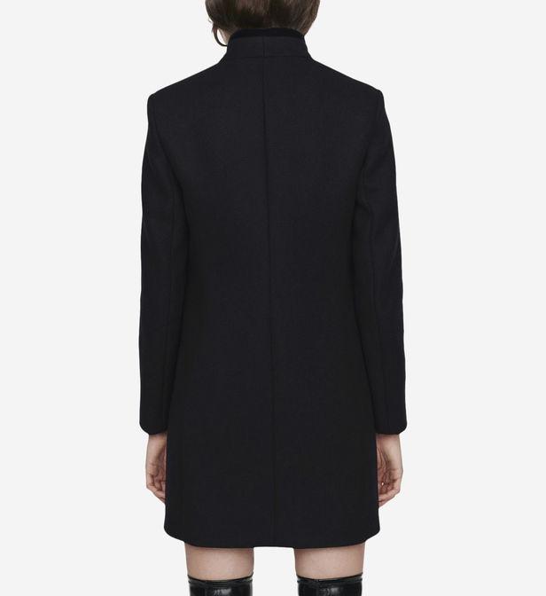 Manteau Galar en drap de laine et velours Maje en coloris Noir EcWNK