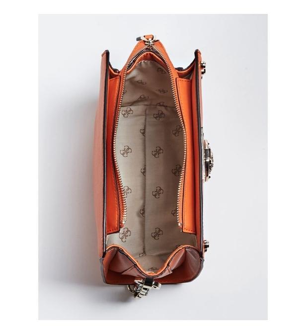 SAC MARLENE APPLICATIONS CLOUS Guess Orange Galeries Lafayette