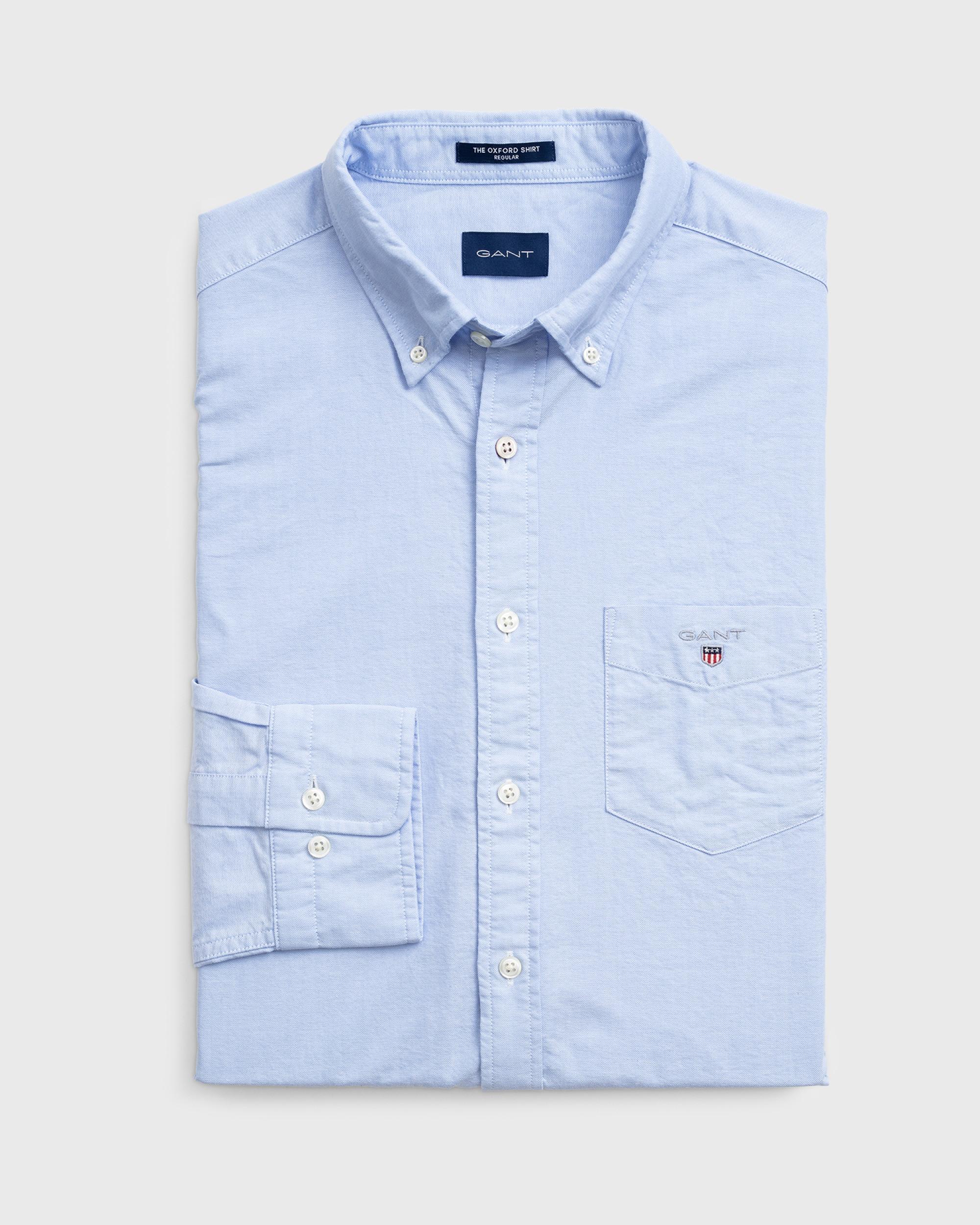 GANT Cotton Regular Fit Oxford Shirt in Blue for Men - Save 6%