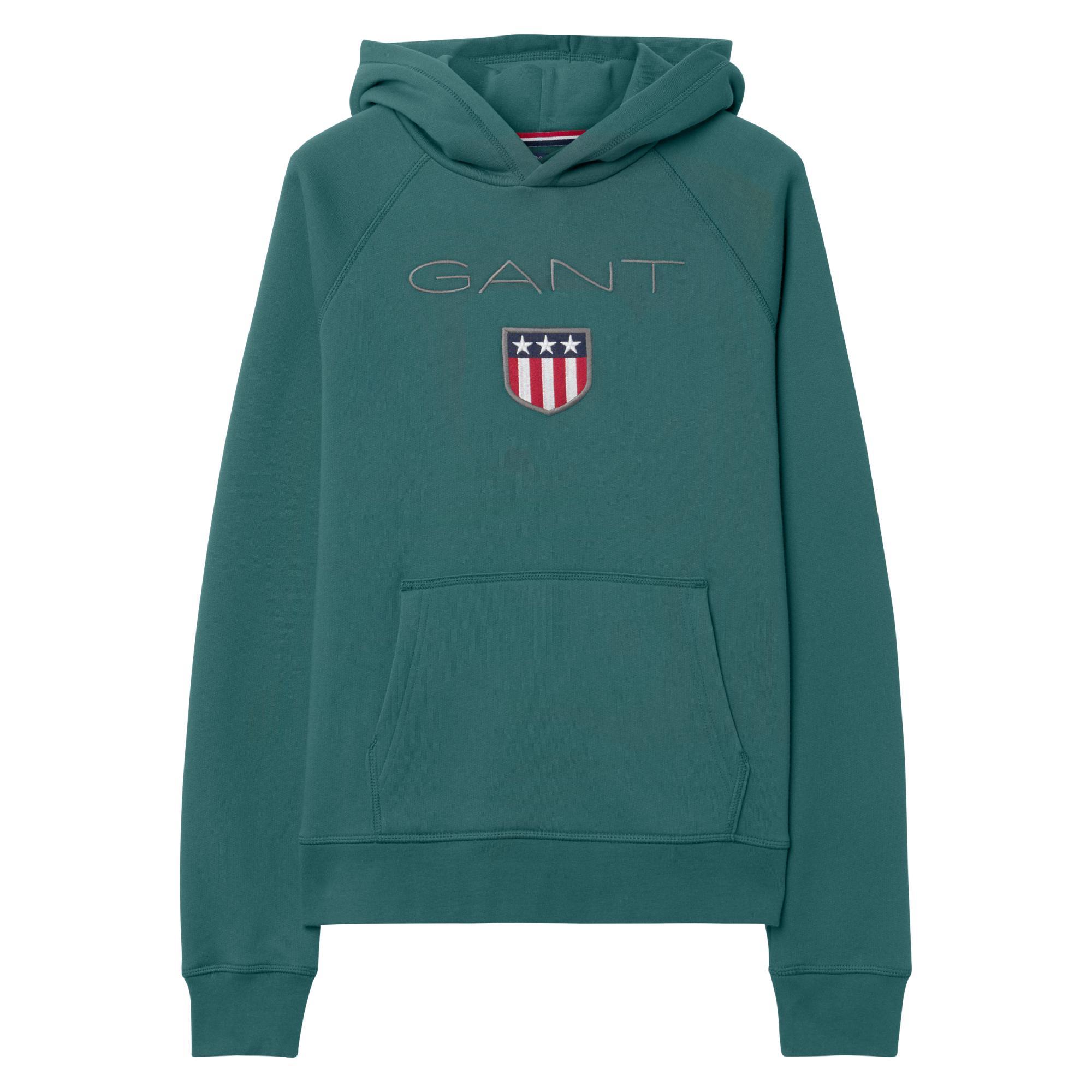topp design bli billig beställa GANT Cotton Teen Boys Shield Sweat Hoodie in Green for Men - Lyst