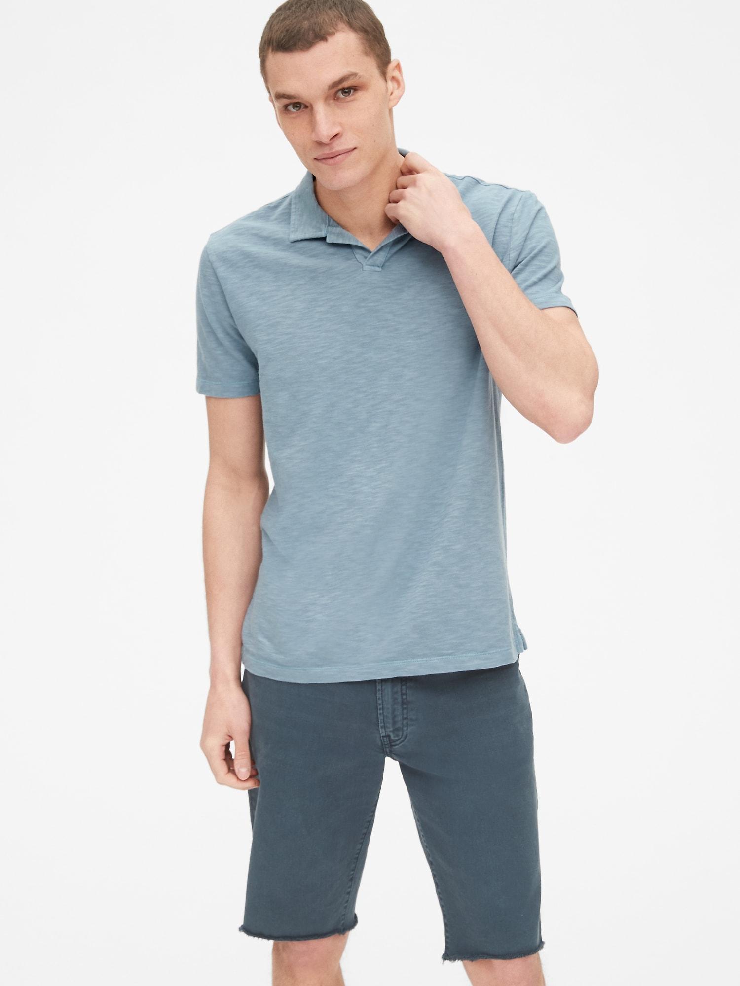 adfac2552 Lyst - Gap Vintage Slub Jersey Polo Shirt in Blue for Men
