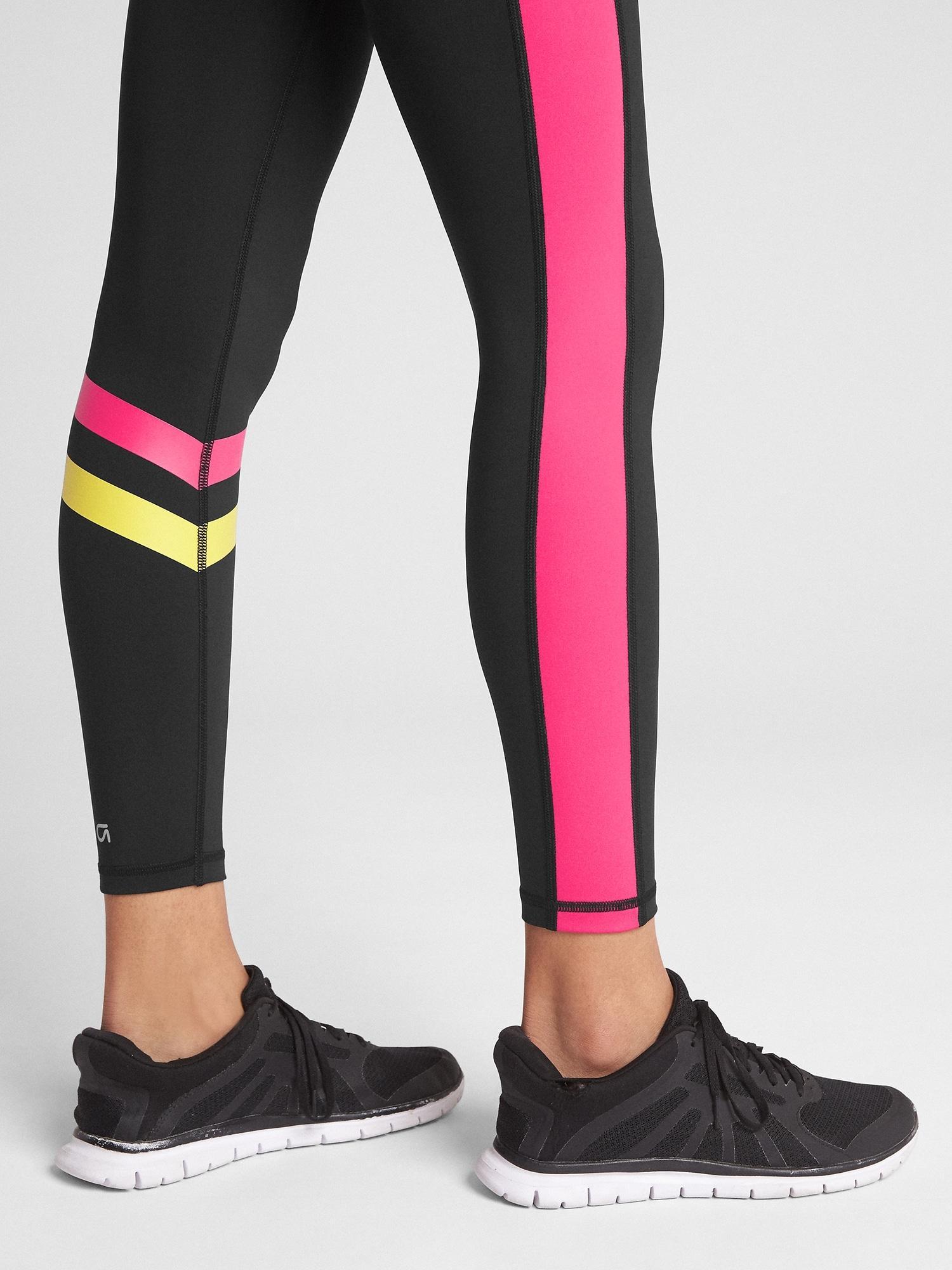 a1999e6161 Gap - Gfast High Rise Multicolor Colorblock Blackout Leggings - Lyst. View  fullscreen