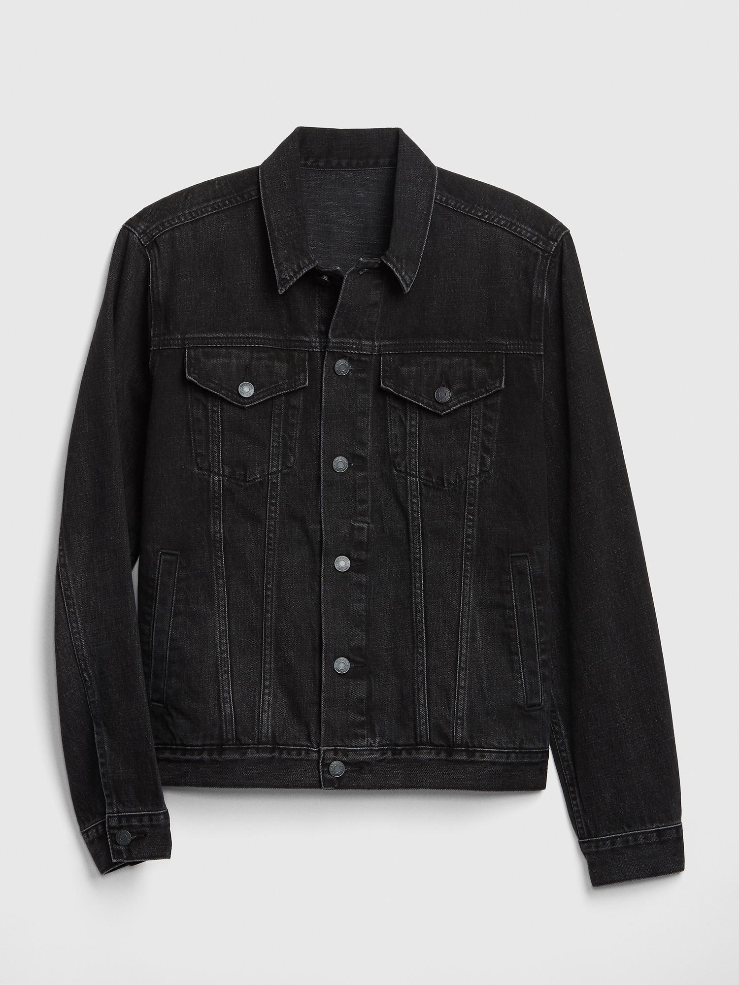 022b50189 Lyst - Gap Icon Denim Jacket in Black for Men